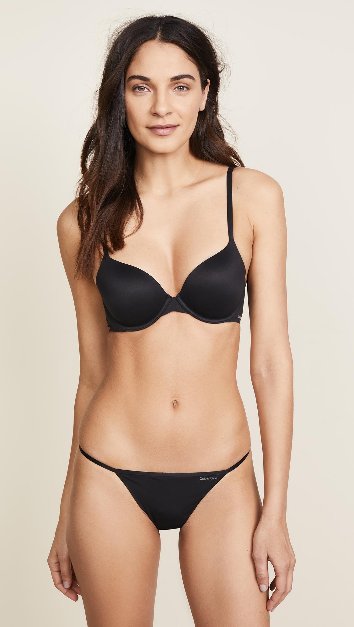 174fdd4acc76f Calvin Klein - Black Perfectly Fit Modern T-shirt Bra - Lyst. View  fullscreen