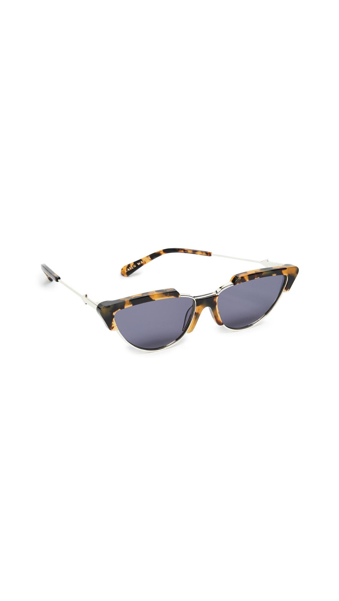Karen Walker Tropics Sunglasses in Black
