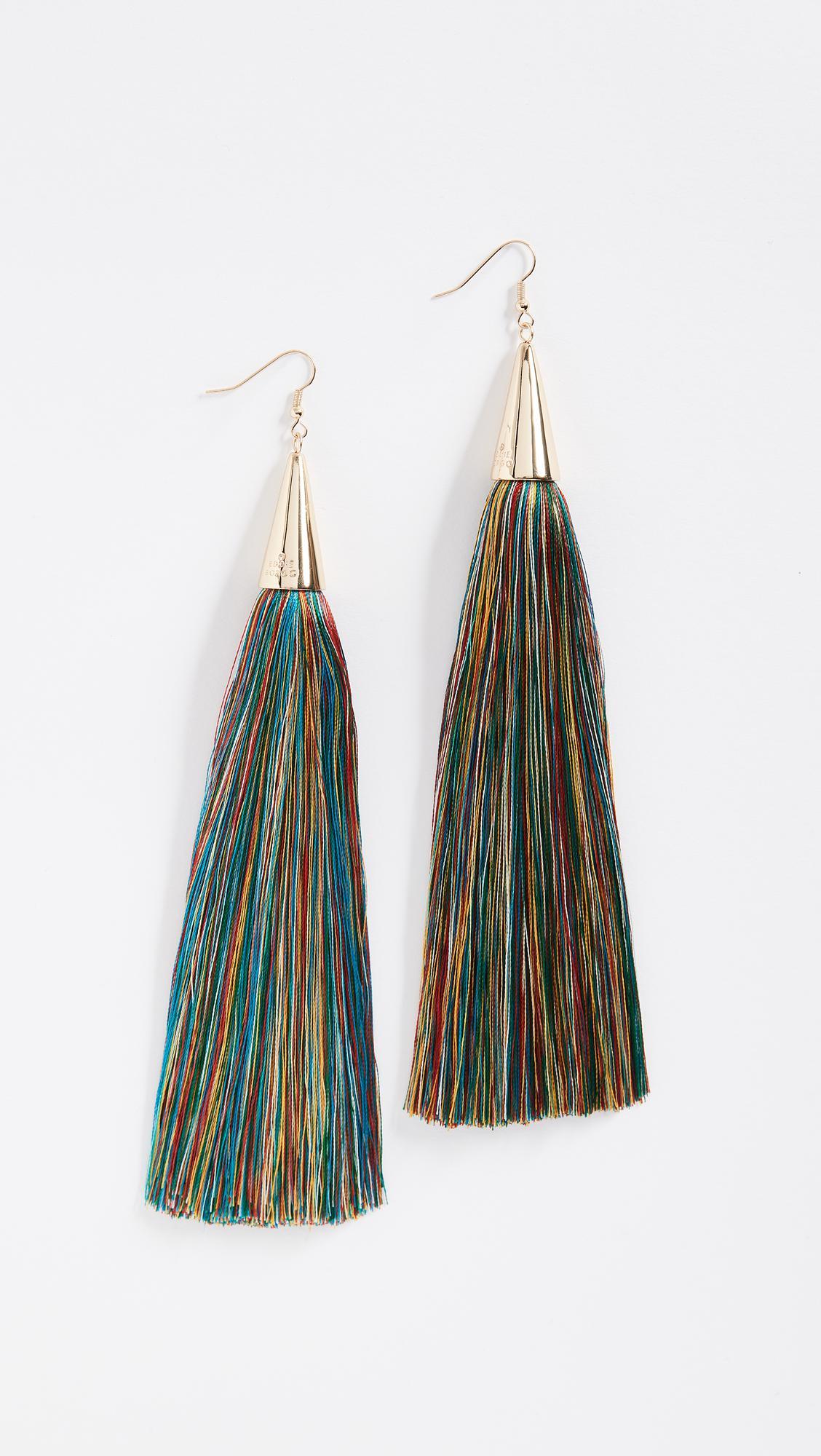 long tassel earrings - Yellow & Orange Eddie Borgo 64I7qCQB