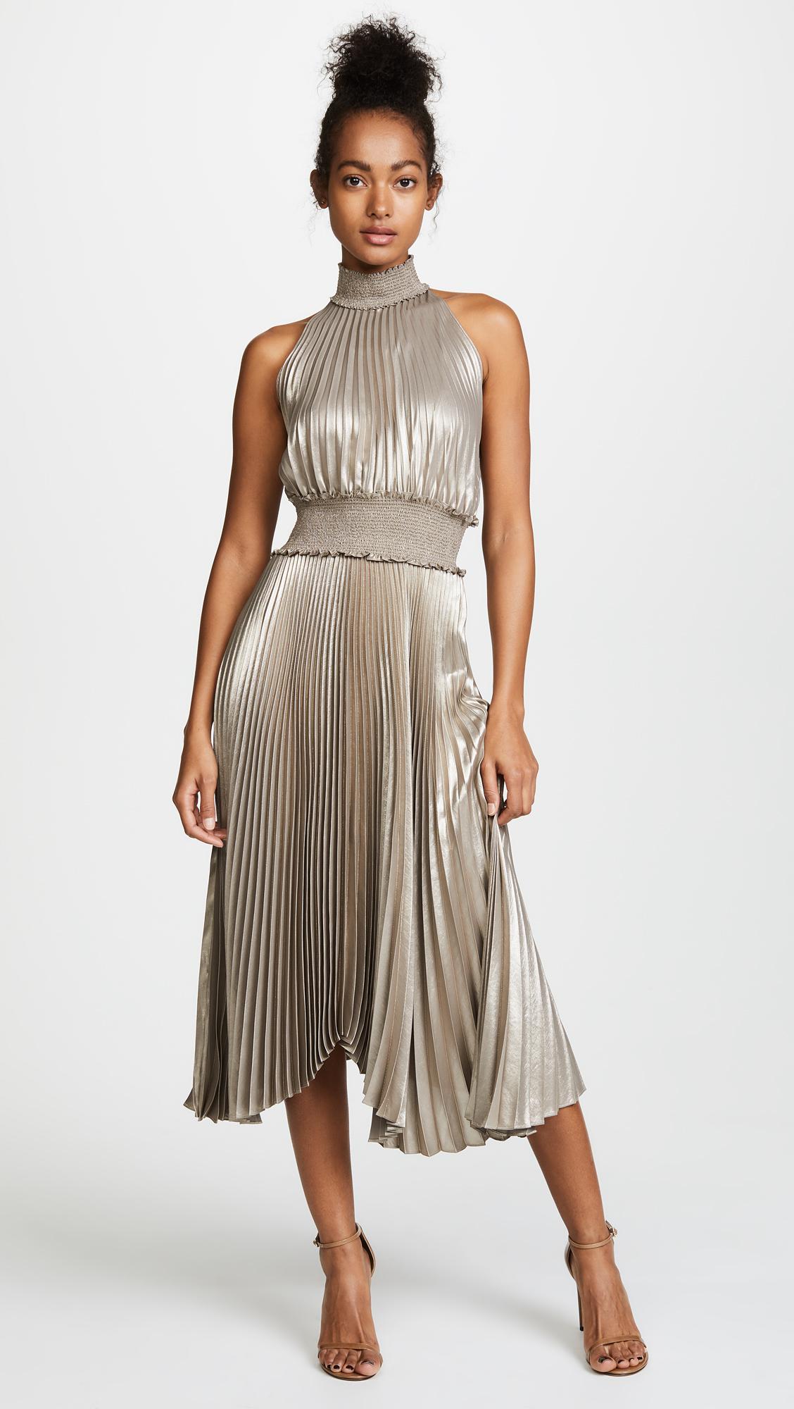 A L C Kravitz Dress In Metallic Lyst