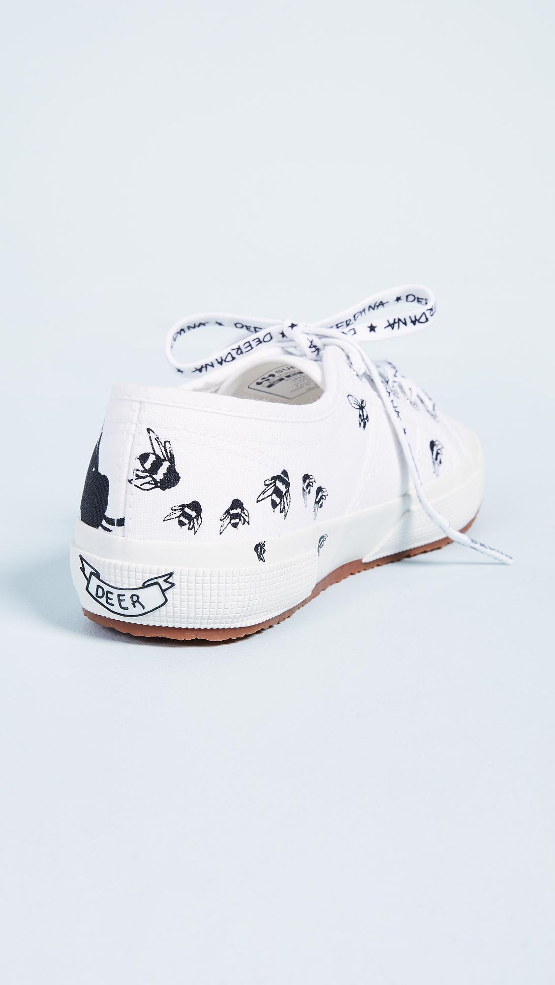 2750 Deer Dana Bees Sneakers in White