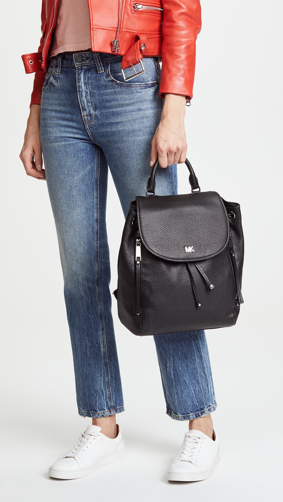 46e57fb36f6525 MICHAEL Michael Kors Evie Medium Backpack in Black - Lyst