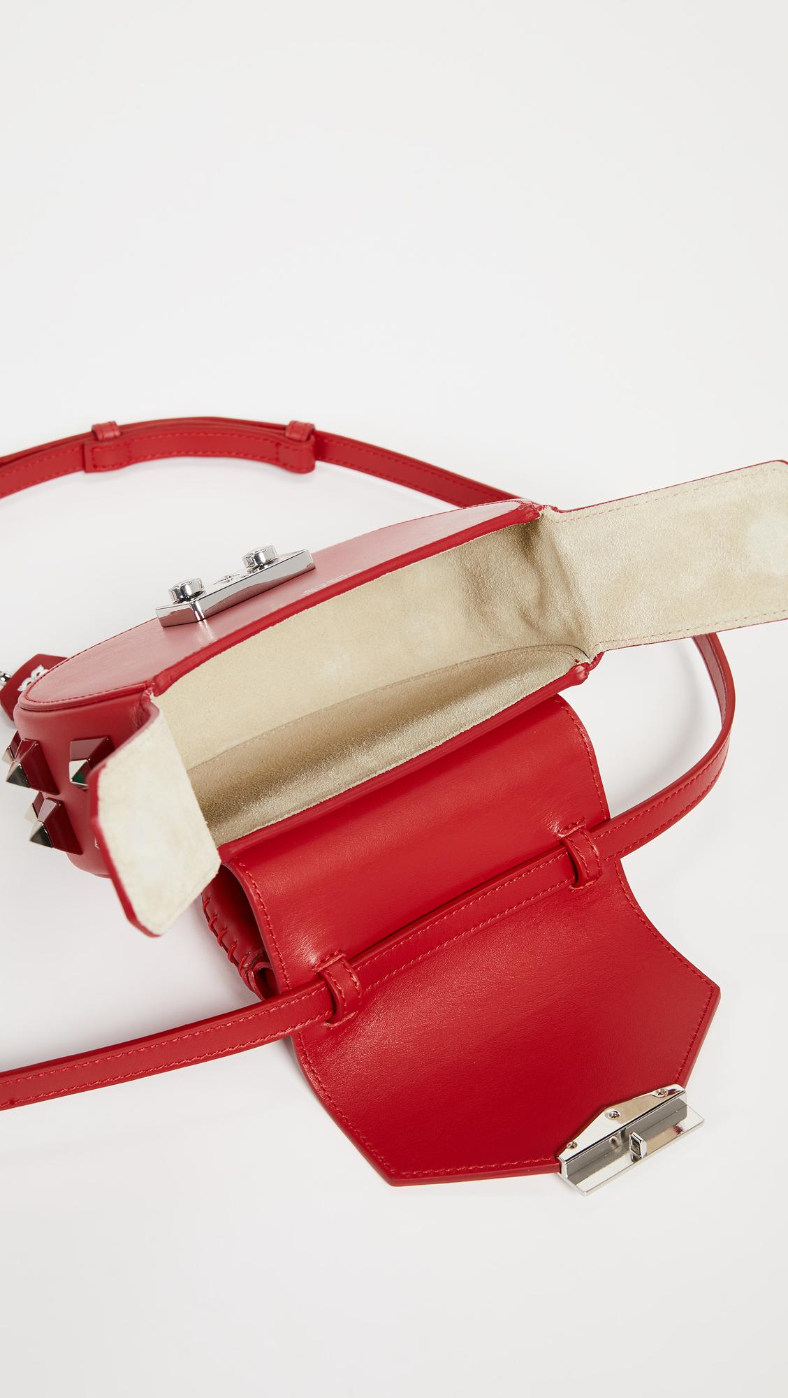 Salar Leather Mimi Cross Body Bag in Red