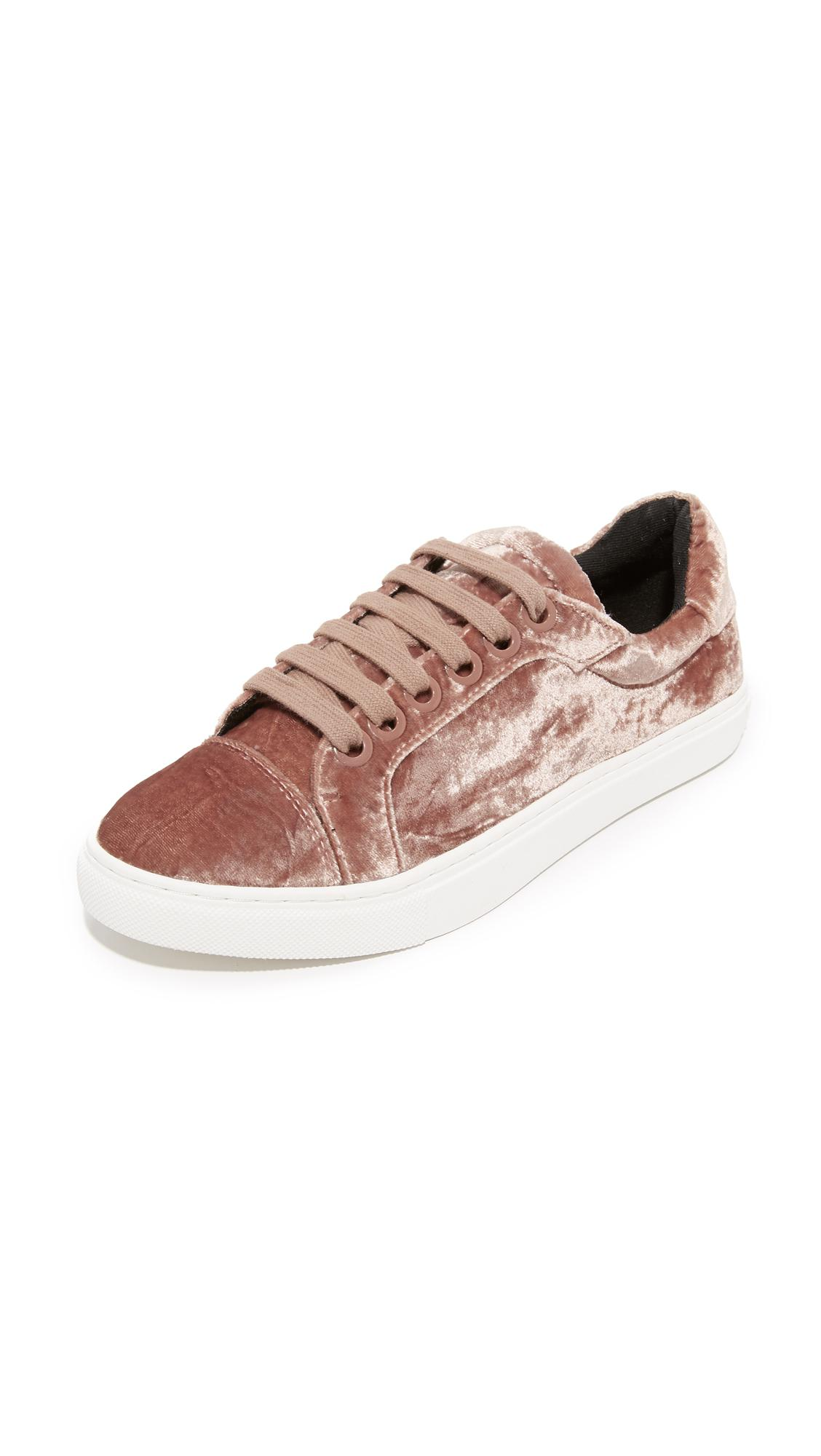 Rebecca Minkoff Velvet Low-Top Sneakers free shipping genuine newest online new arrival cheap online cheap outlet store taBs6f