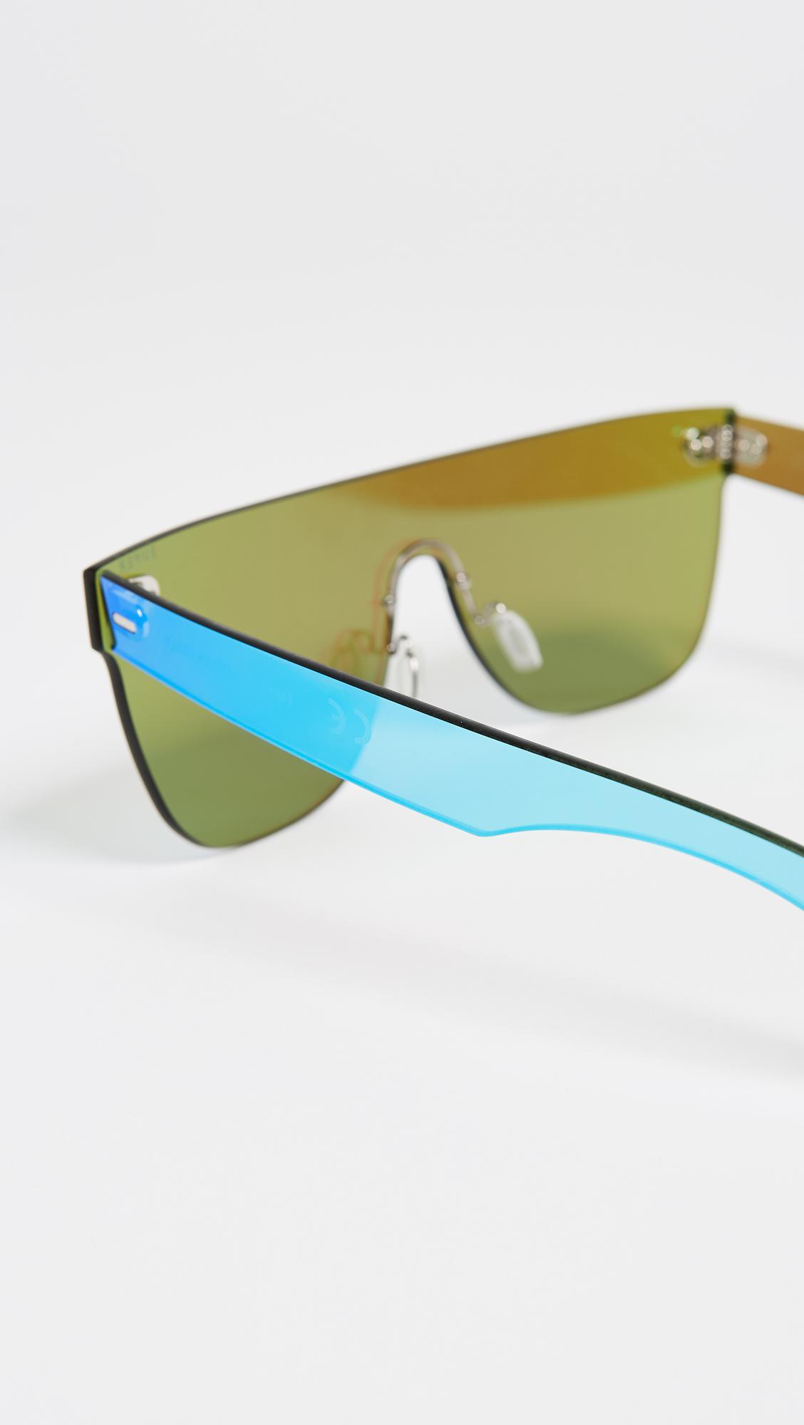 Retrosuperfuture Tuttolente Flat Top Sunglasses in Azure/Azure (Blue)