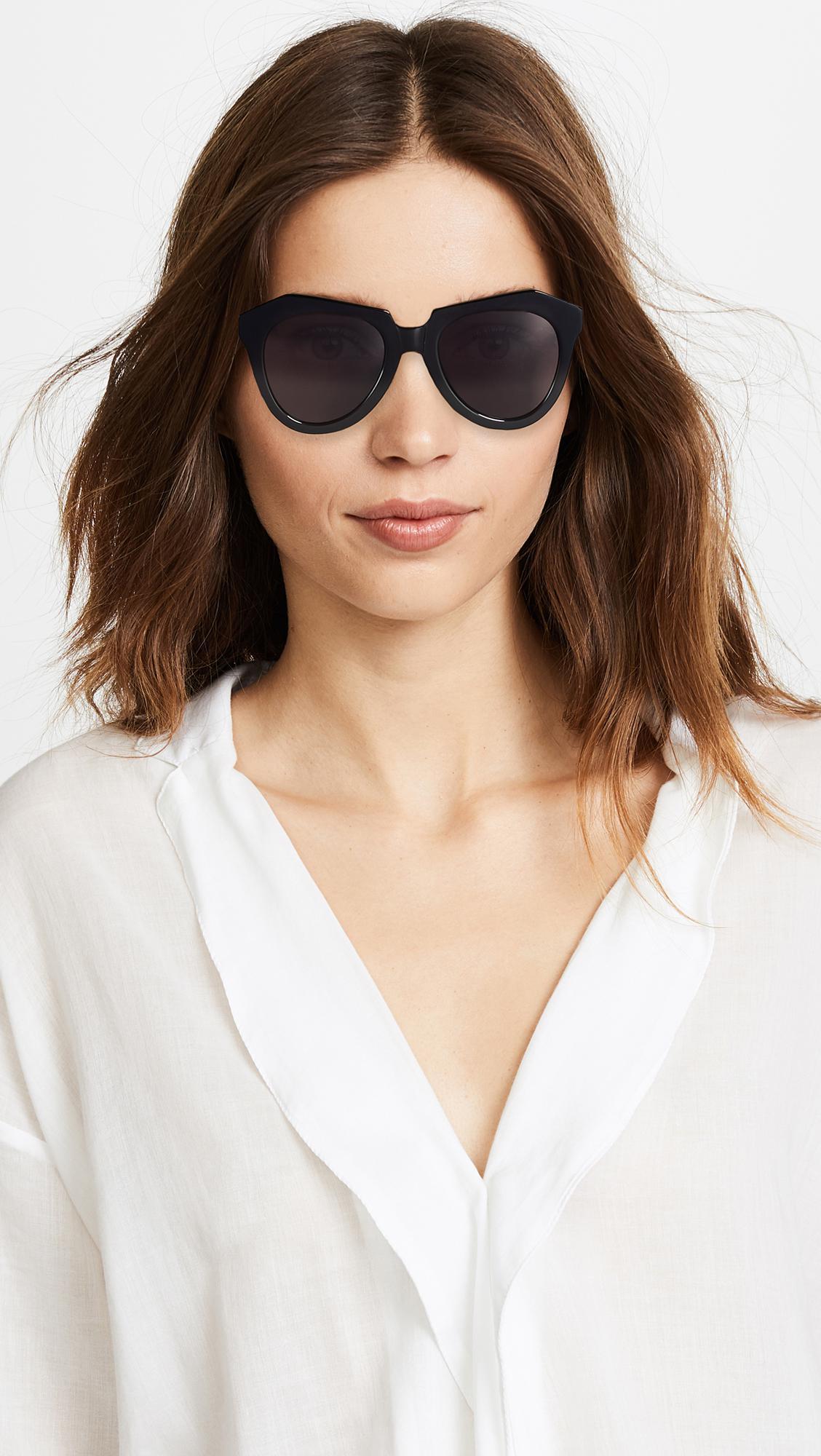 15ebf611680 Lyst - Karen Walker Number One Sunglasses in Black - Save 12%