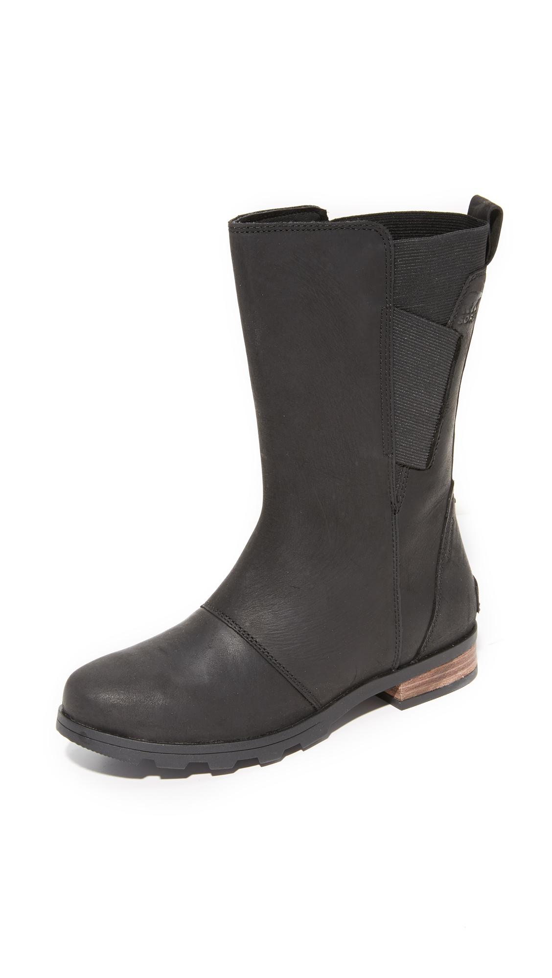 Sorel Suede Emelie Mid Boots In Black Lyst