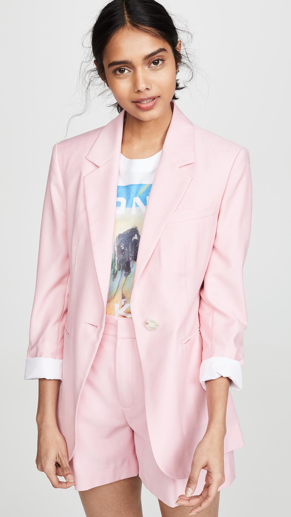 d43e5c078e6002 Lyst - Edition10 Wrap Waist Blazer in Pink
