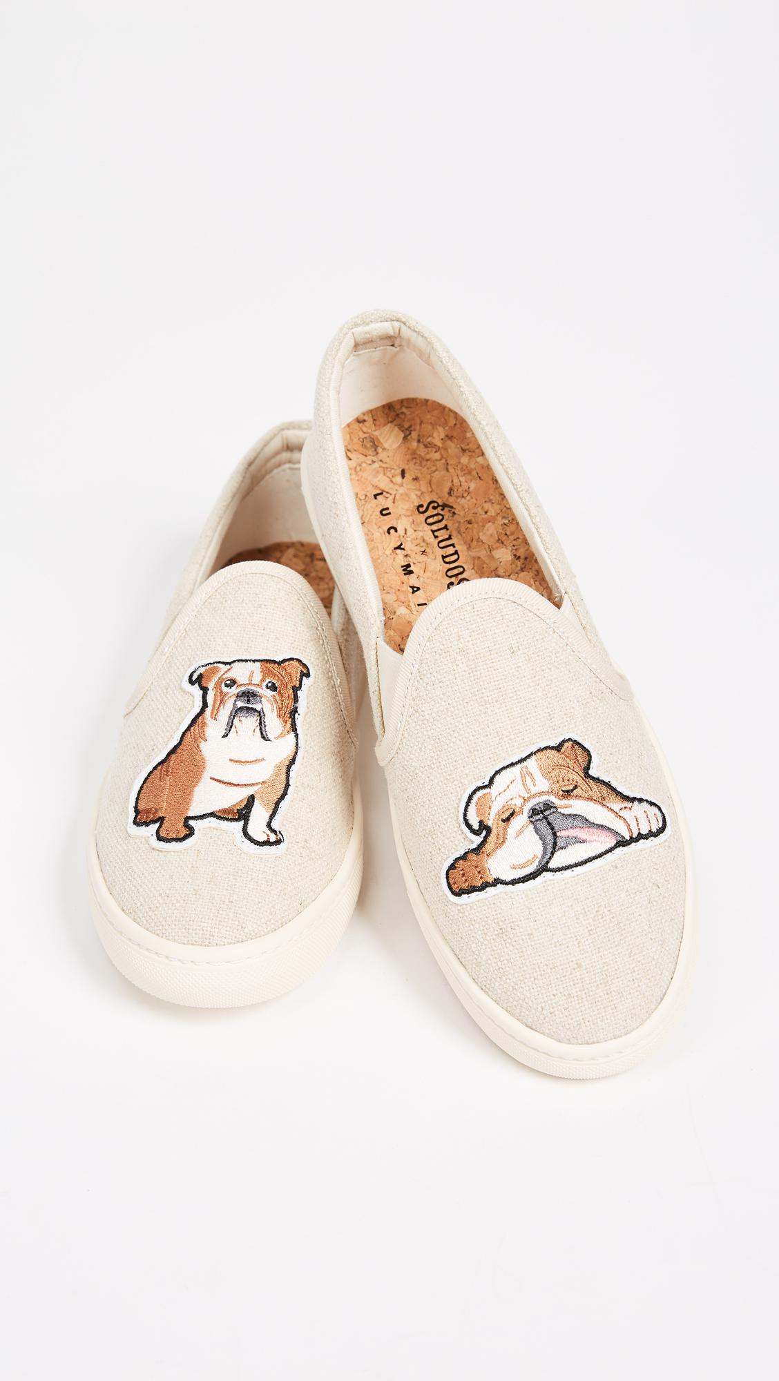 Soludos Canvas Bulldog Slip On Sneakers in Sand (Natural)