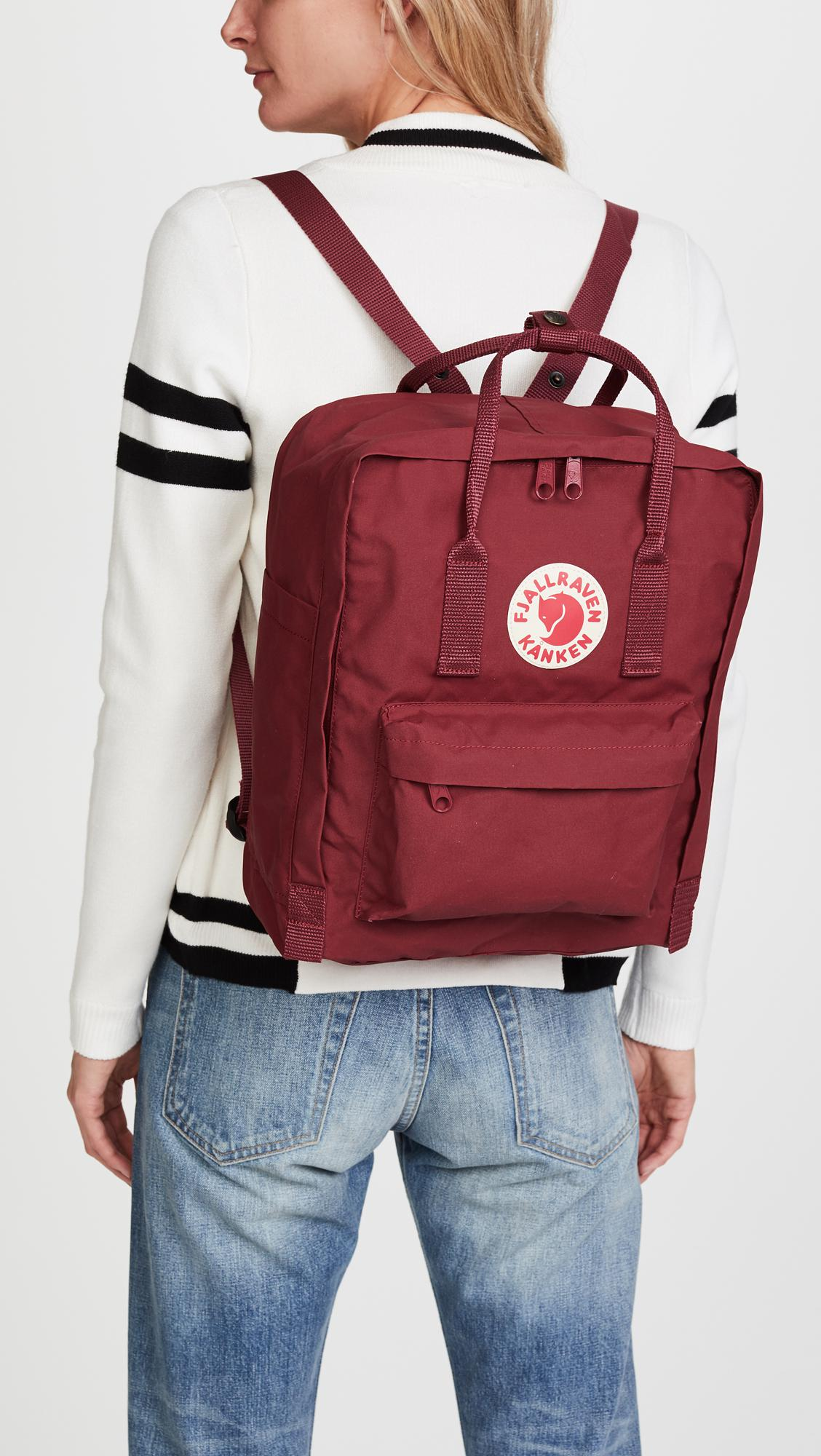 Details about Fjallraven Kanken Classic Pack 15x10.6x5.1 Backpack 23510 Royal Blue Ox Red