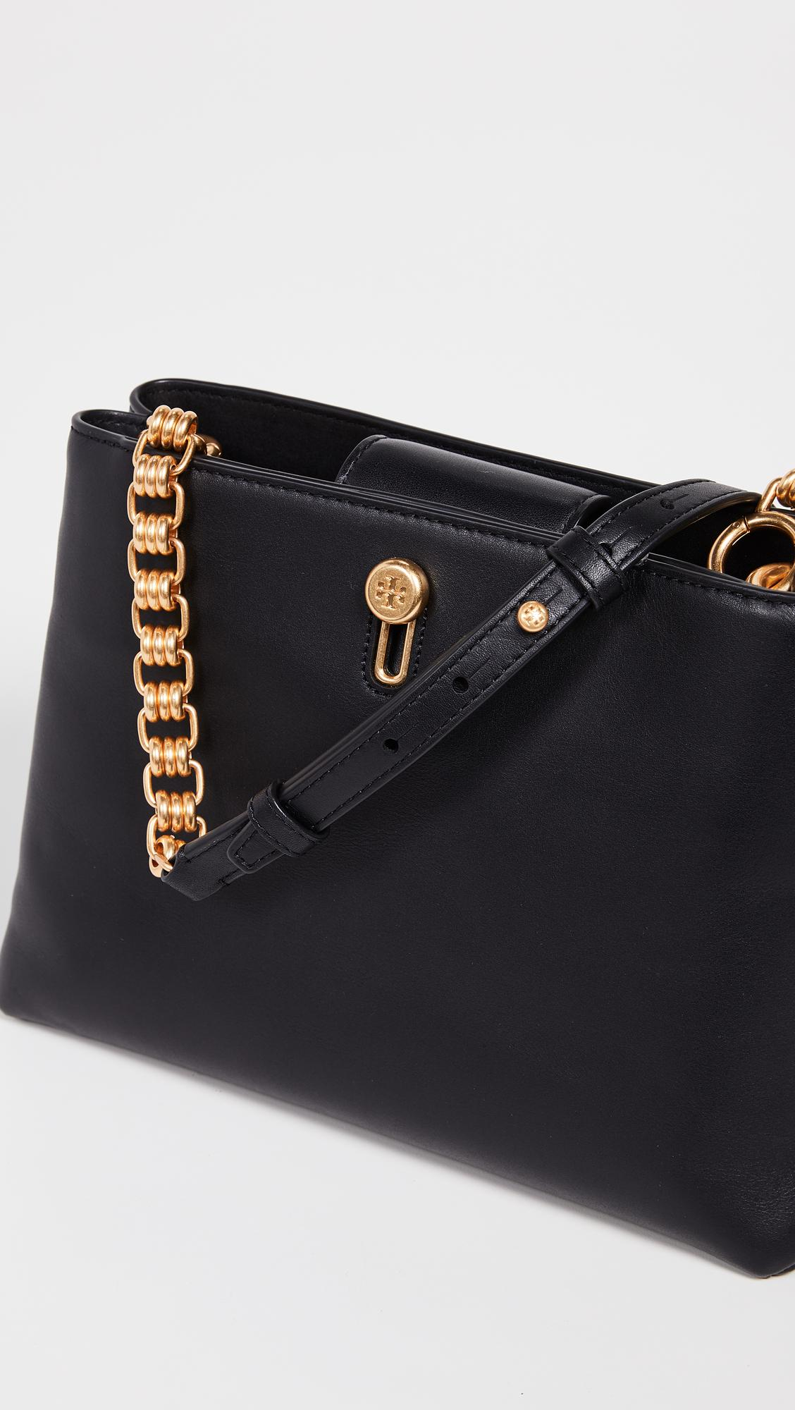 Tory Burch Leather Lily Chain Crossbody Bag In Black Lyst