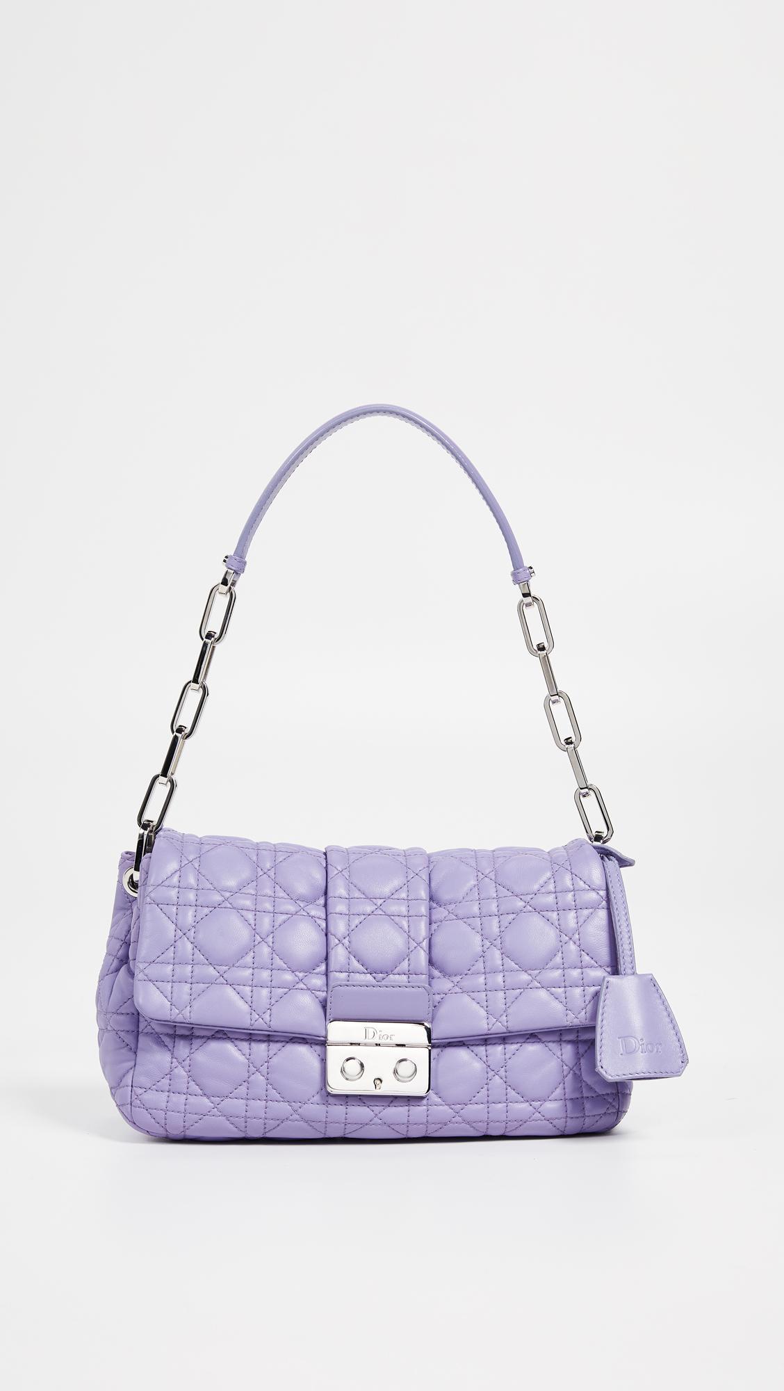 559949042c84 What Goes Around Comes Around Dior Purple Lambskin New Lock Bag in ...