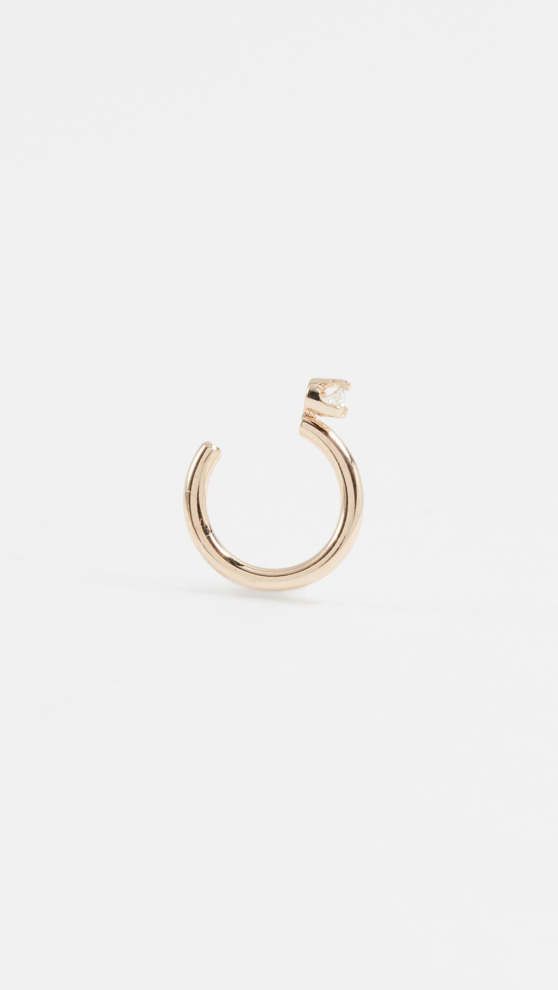 Zoë Chicco 14K Gold Ear Cuff with White Diamond iIyIt
