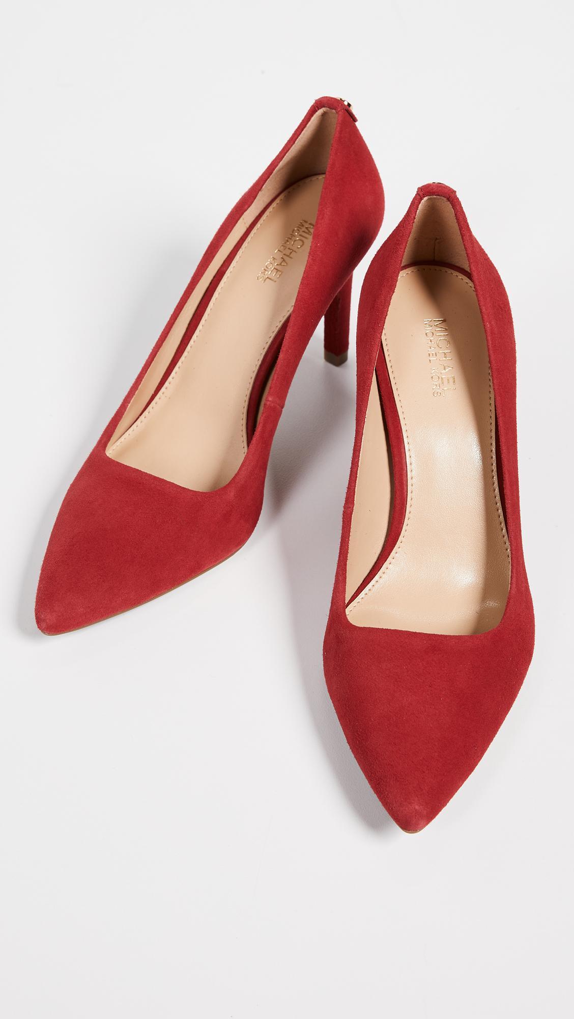 b102f31abf6 Lyst - MICHAEL Michael Kors Dorothy Flex Pumps in Red