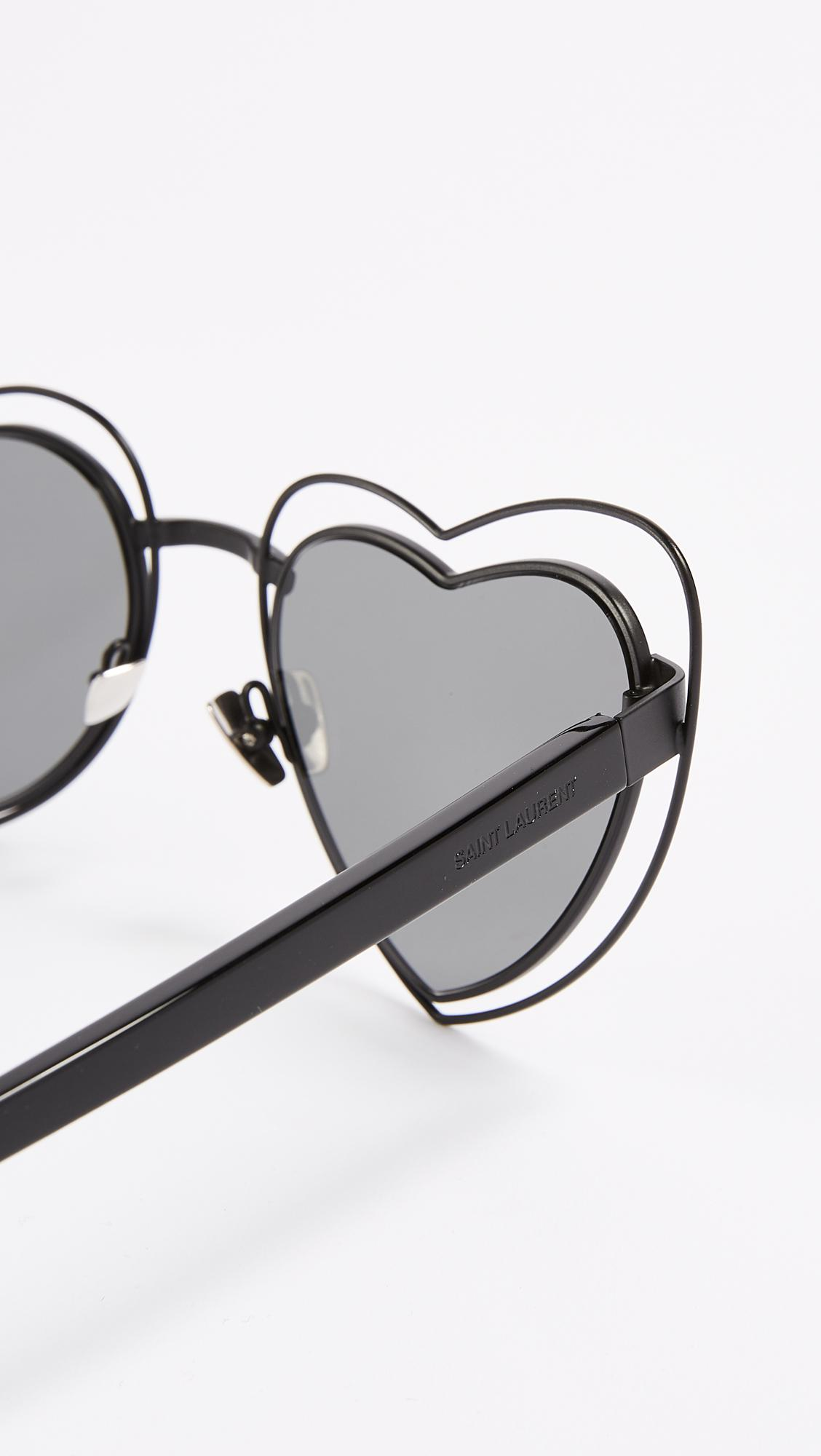 976f25d4774a8 Lyst - Saint Laurent Lou Lou Hearts Sunglasses