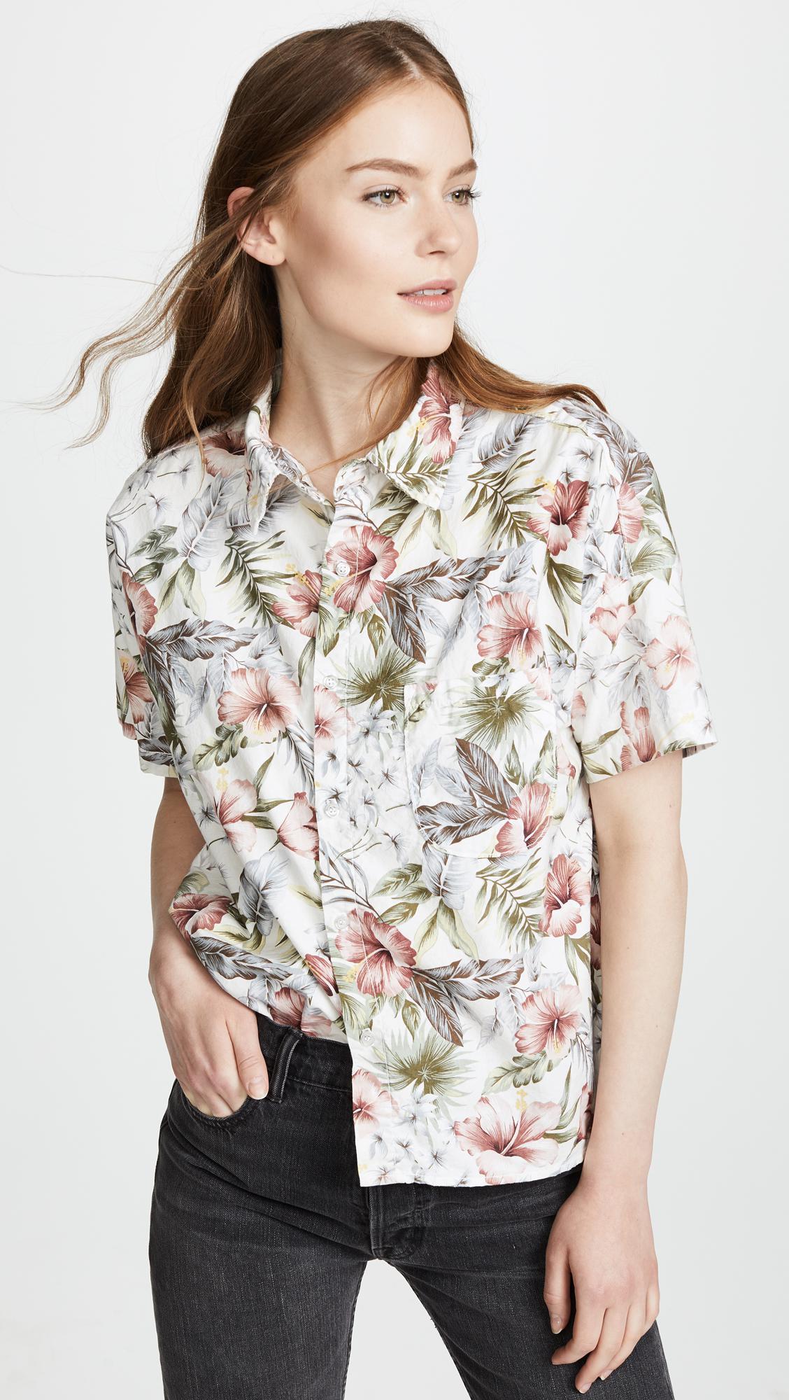 Womens Tanis Floral Cotton Blouse NSF Discount Shop For uXTZbBKtW