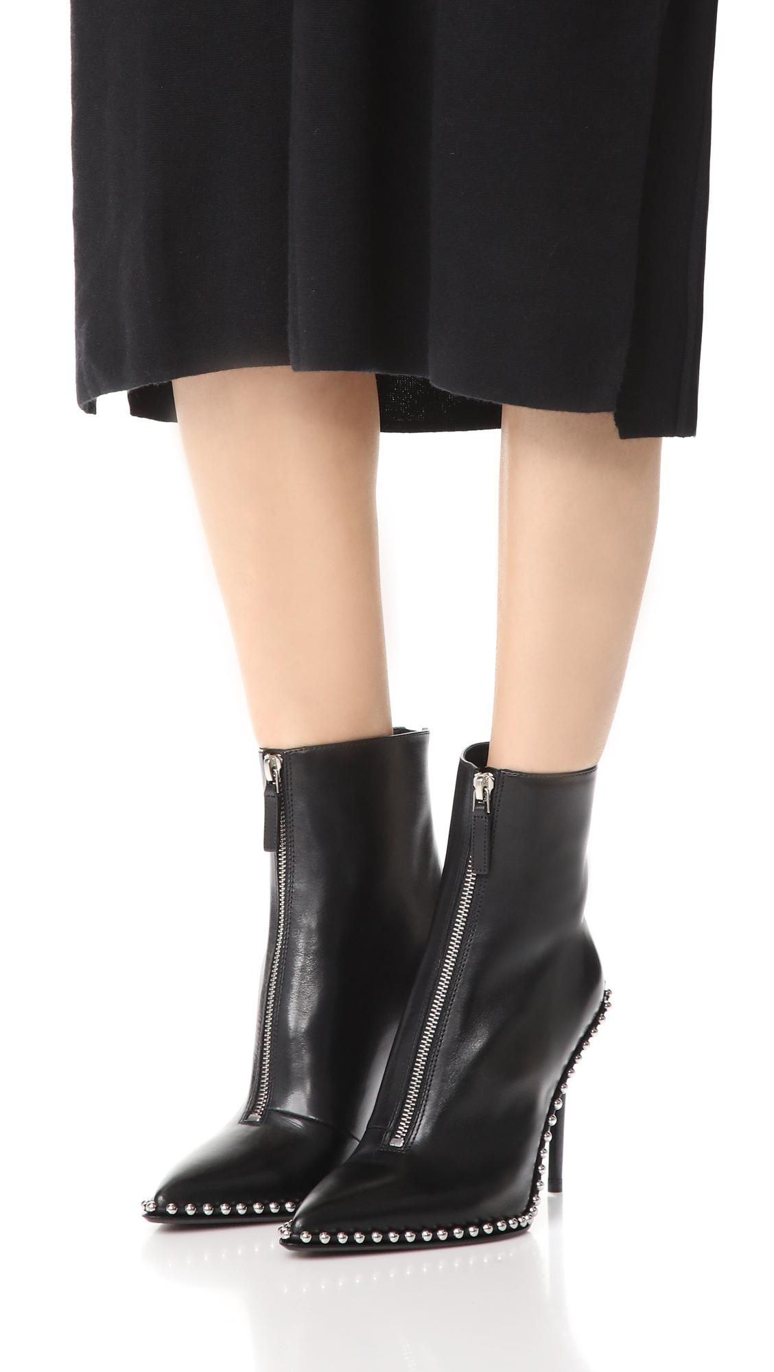 Alexander Wang Leather Eri Boot in Black