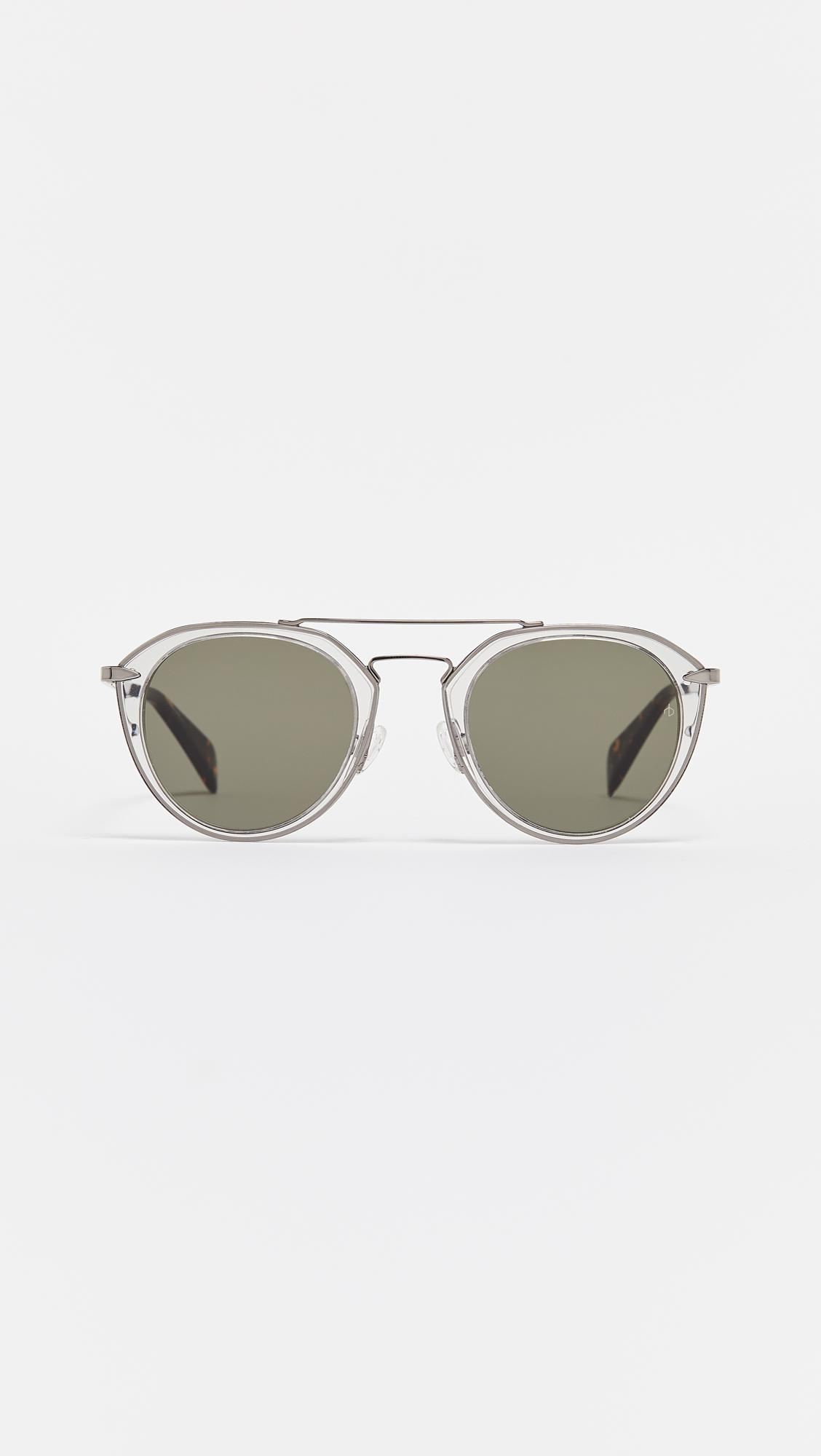 8635b84e35f Rag   Bone Aviator Sunglasses in Gray - Lyst
