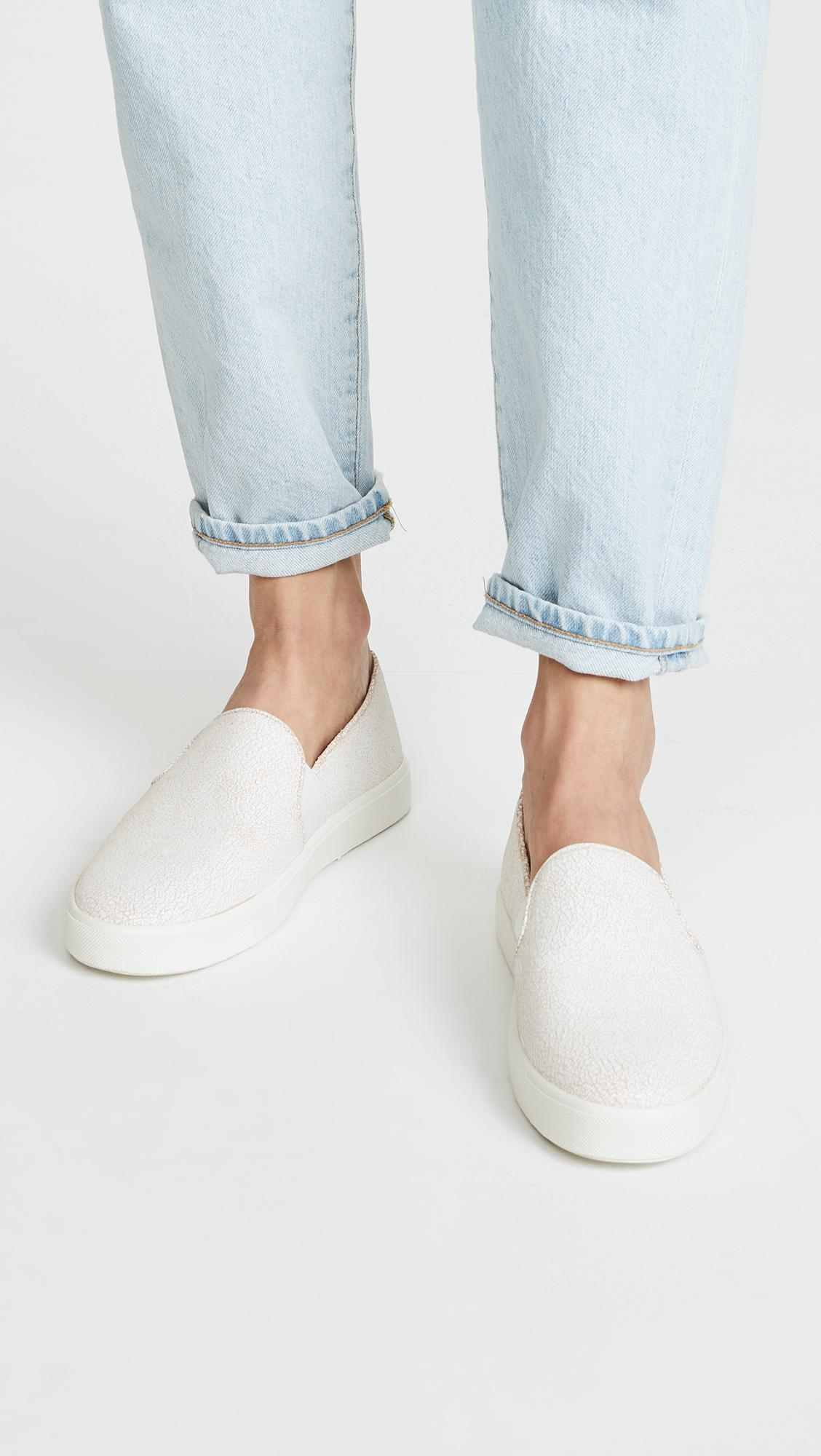 vince white slip on shoes top quality