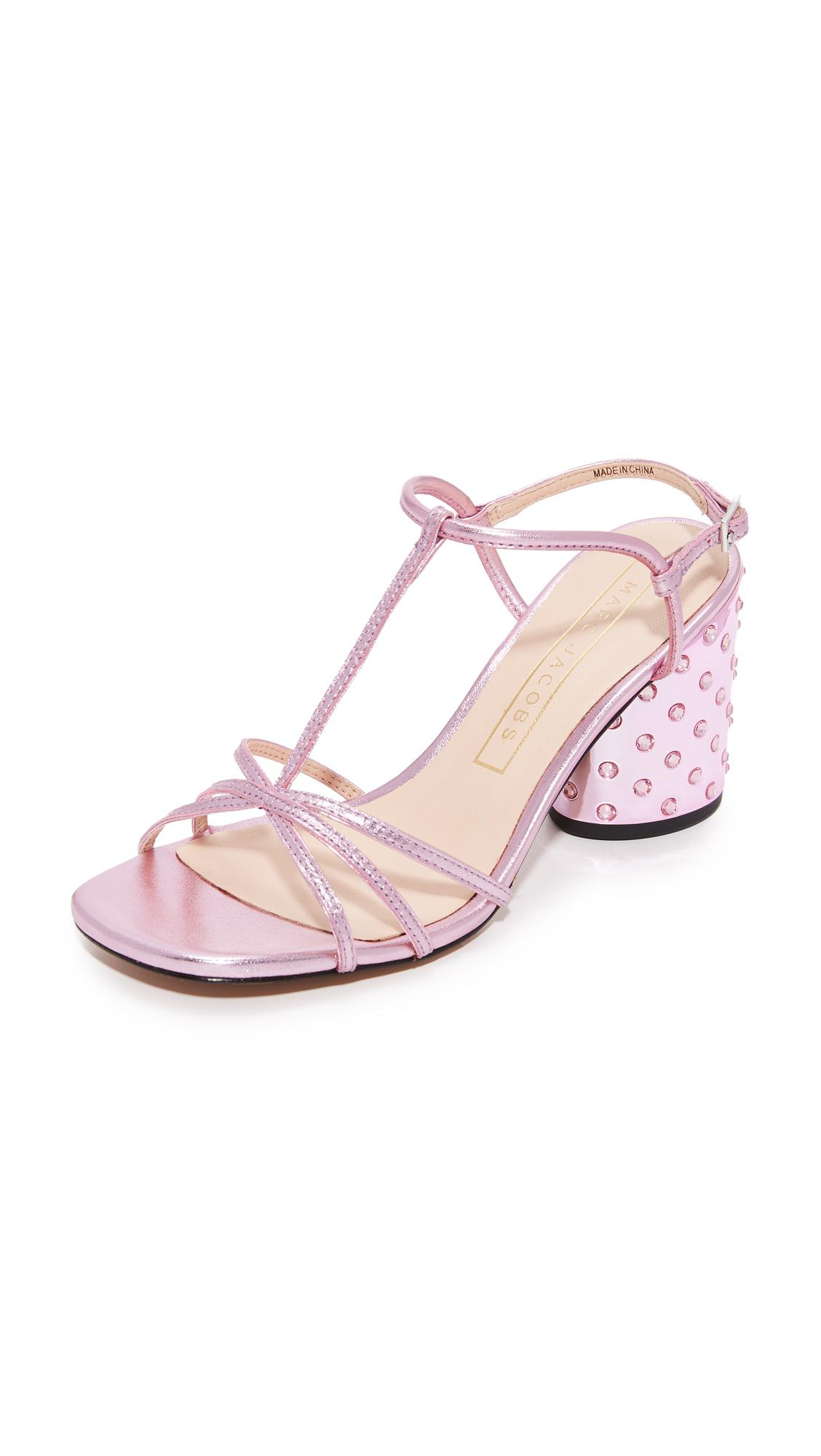 c0a018b940ea Marc Jacobs Sheena T-strap Sandals in Pink - Lyst