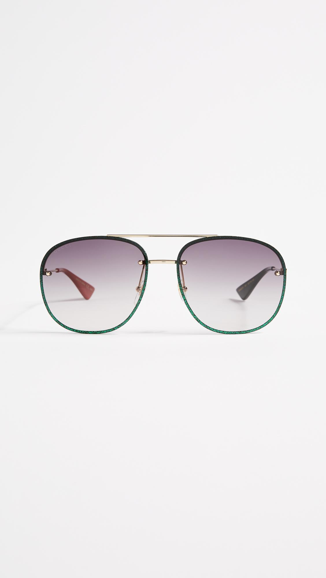 8eb5dd981a Gucci Leather Frame Aviator Sunglasses « One More Soul