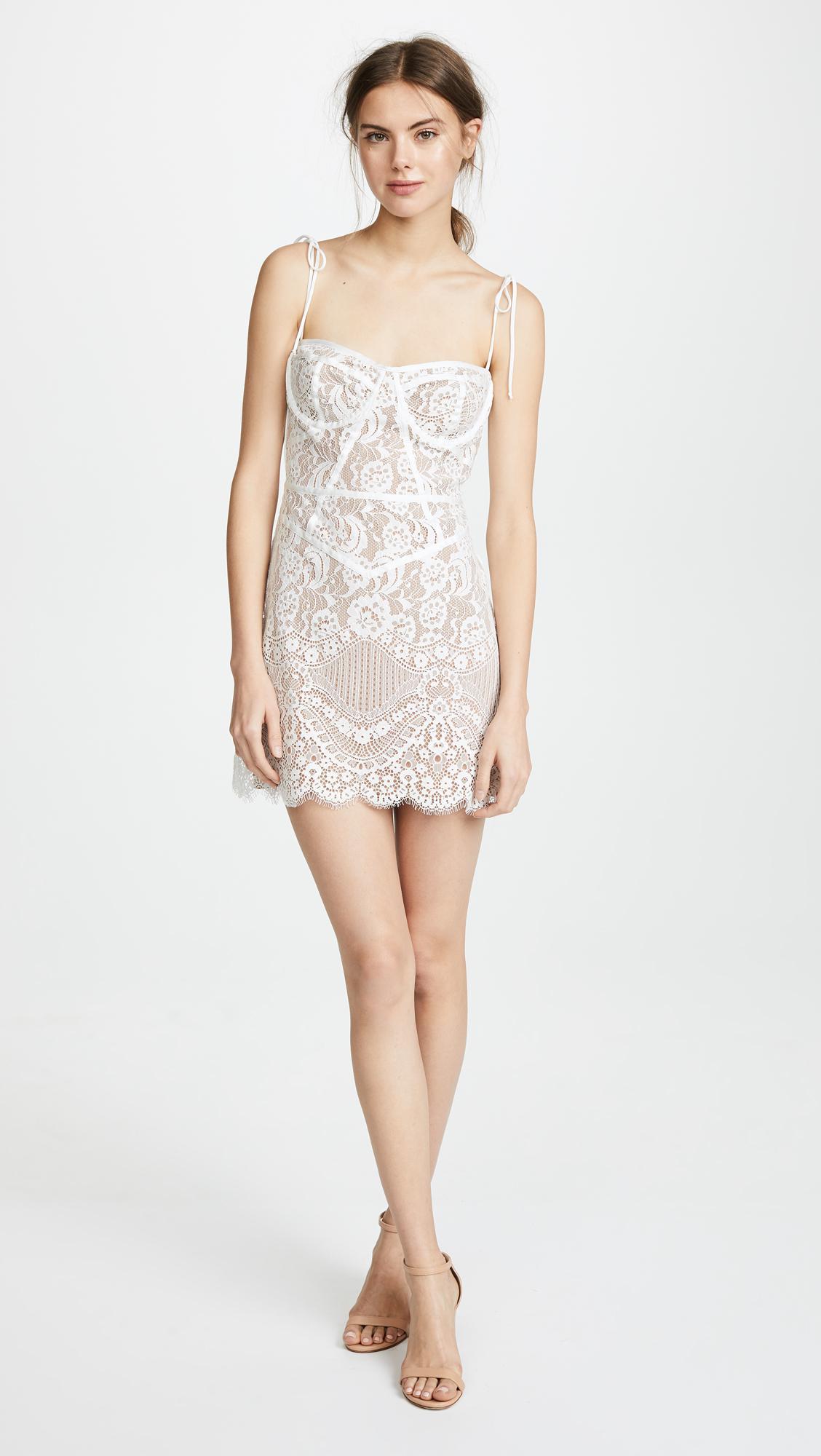 5ca56603b75d For Love & Lemons Tati Lace Corset Dress in White - Lyst