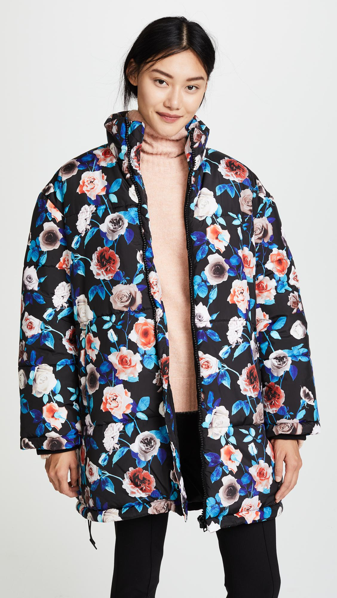 Lyst Msgm Floral Puffer Jacket