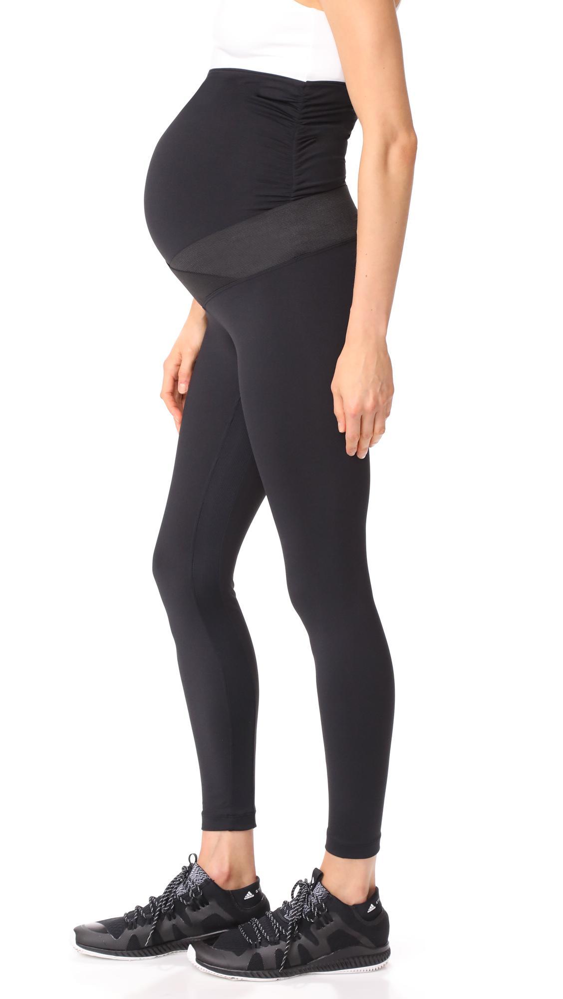 7bd46579ad79f Lyst - Koral Cadence Maternity Leggings in Black