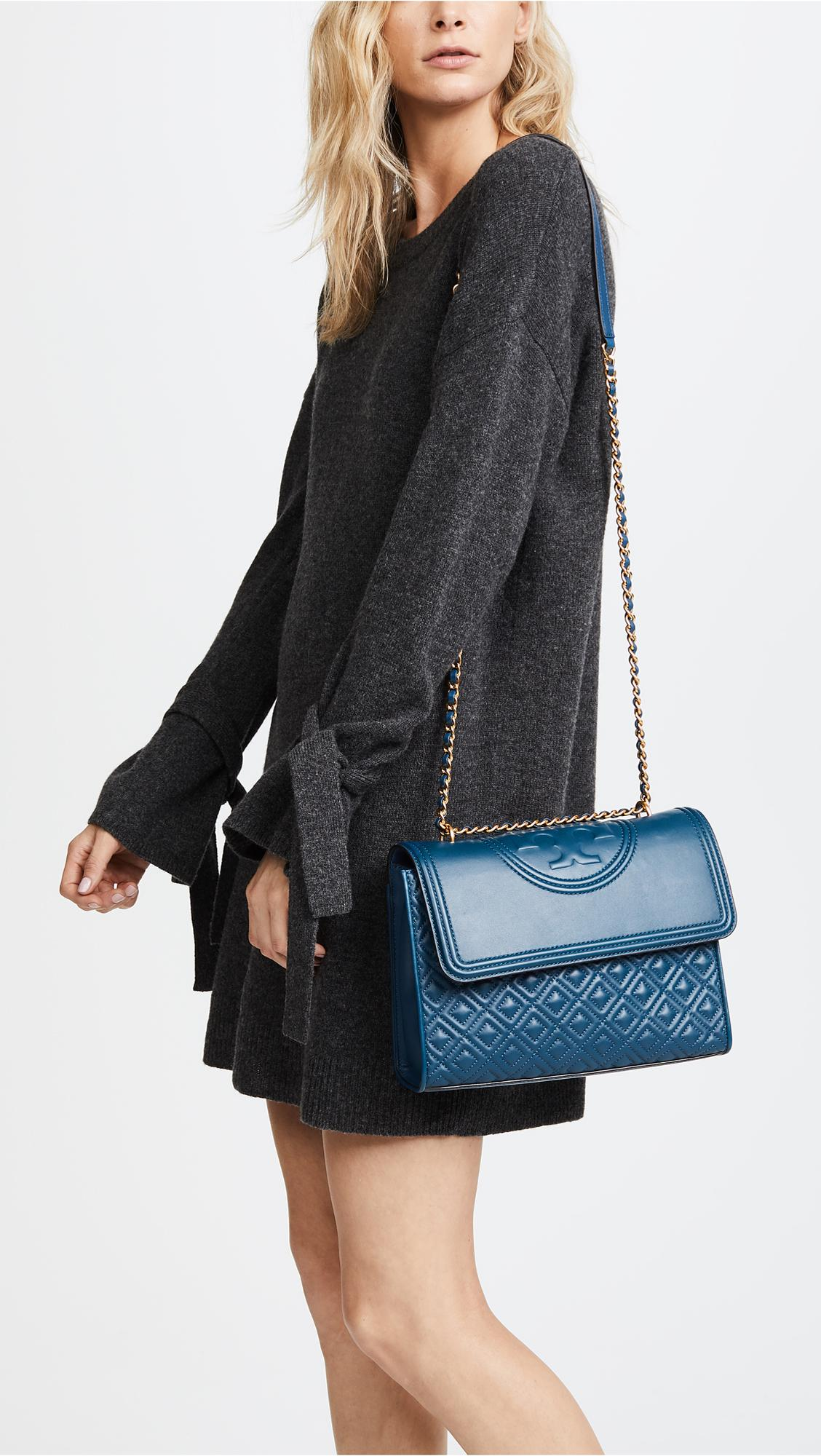 Fleming convertible shoulder bag - Blue Tory Burch 1RIcMZEISn
