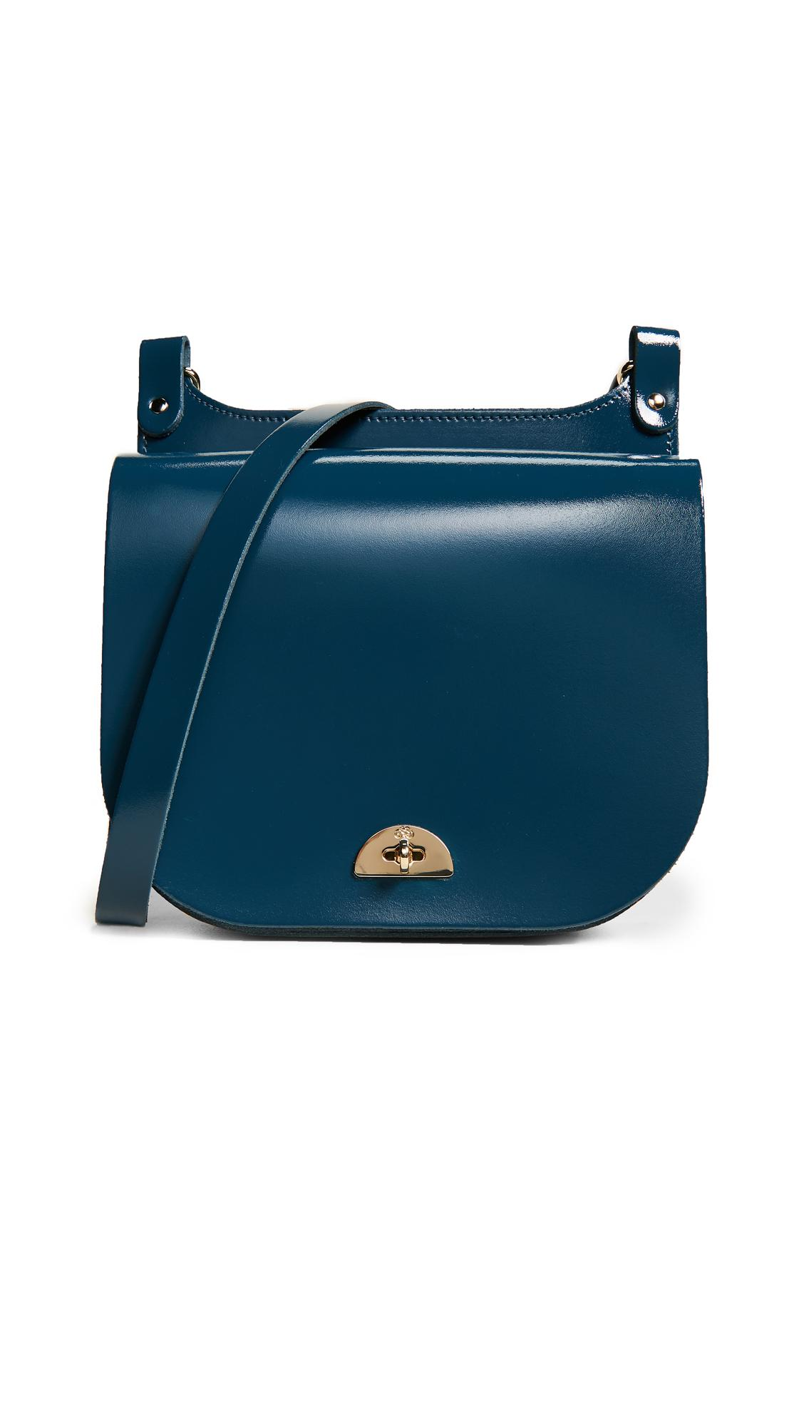 Cambridge Satchel Company Leather Conductor Cross Body in Dark Teal (Blue)