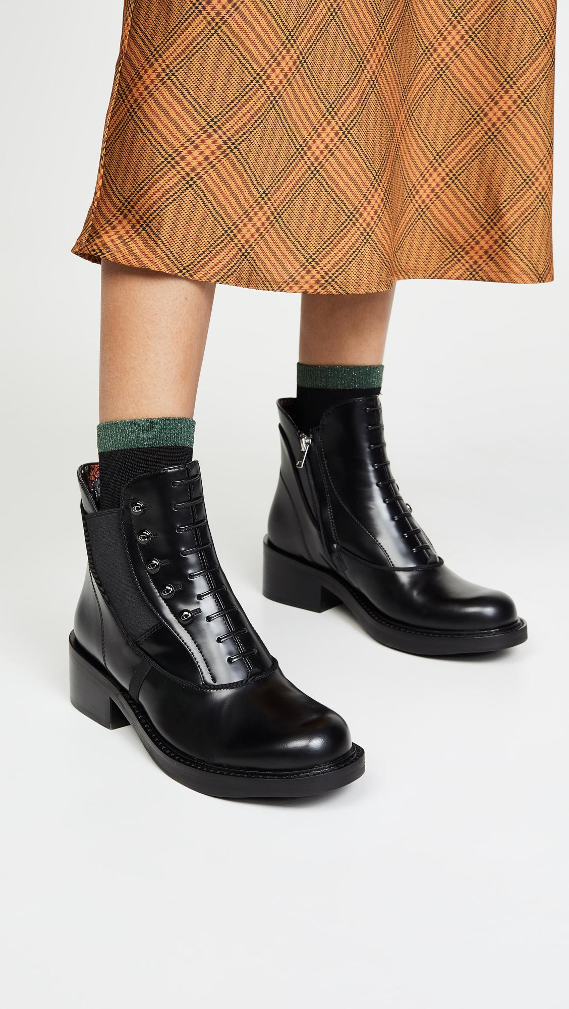 Coach Leather X Tabitha Simmons Chelsea Moto Booties In