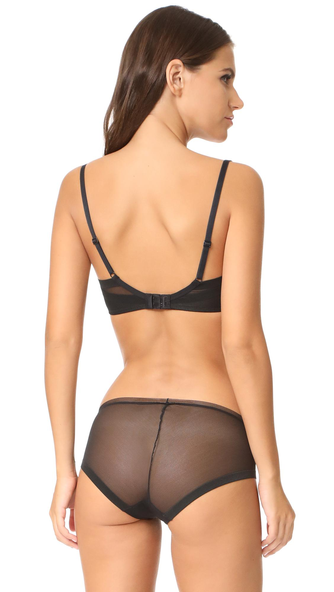 a0d62a5556 Lyst - Calvin Klein Sculpted Lightly Lined Triangle Bra in Black