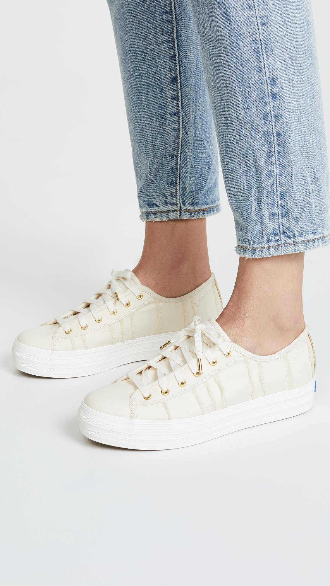 701a5413ca0 Lyst - Keds Triple Kick Eyelash Lace Up Sneakers