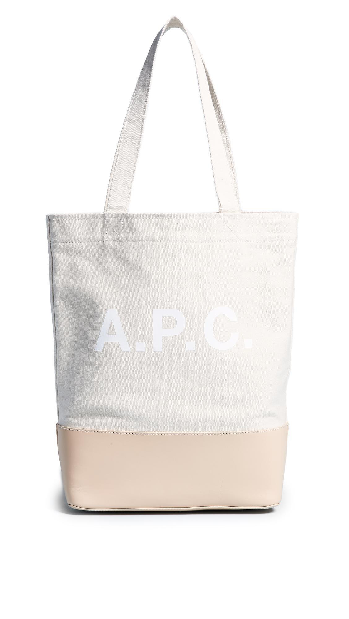 A.P.C. Canvas Cabas Axel Tote in Ecru (White)