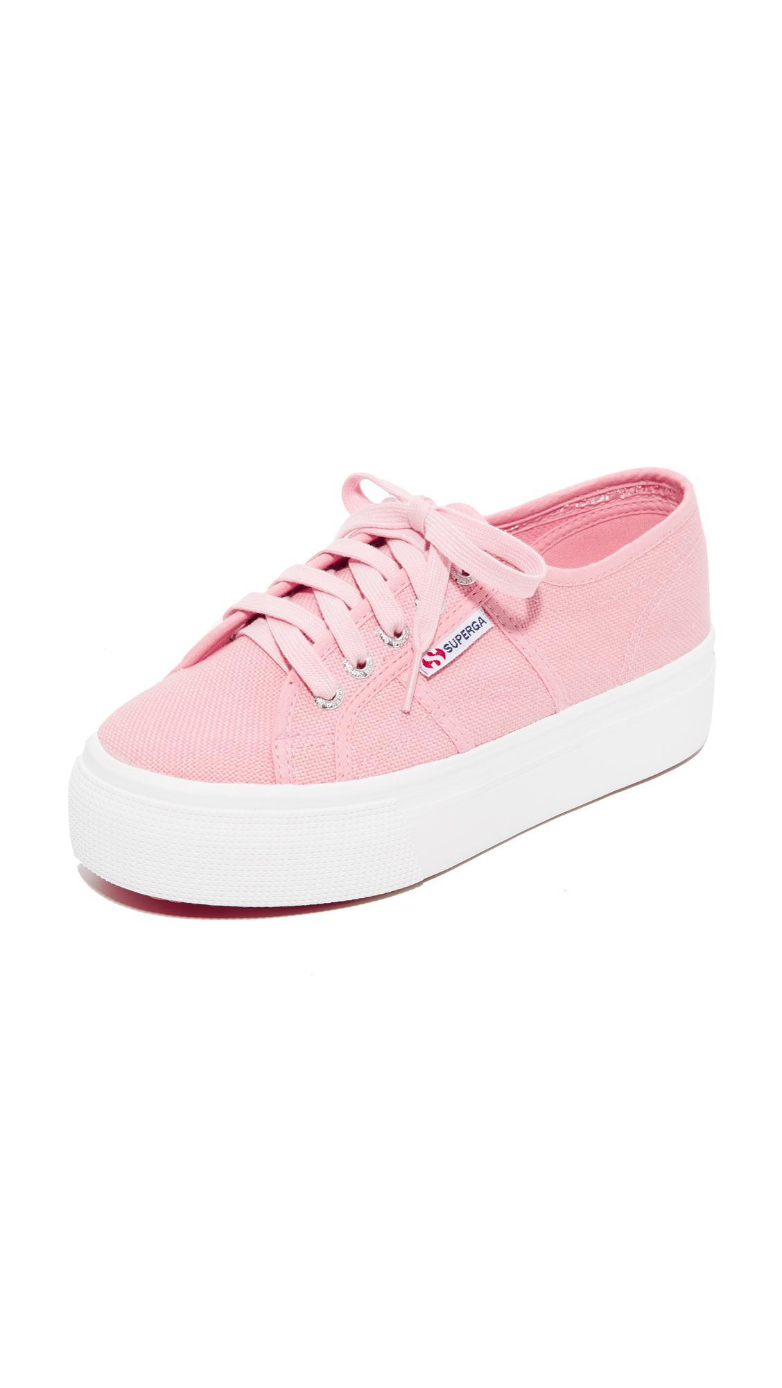16967ae8eb6 Superga - Pink 2790 Platform Sneakers - Lyst. View fullscreen