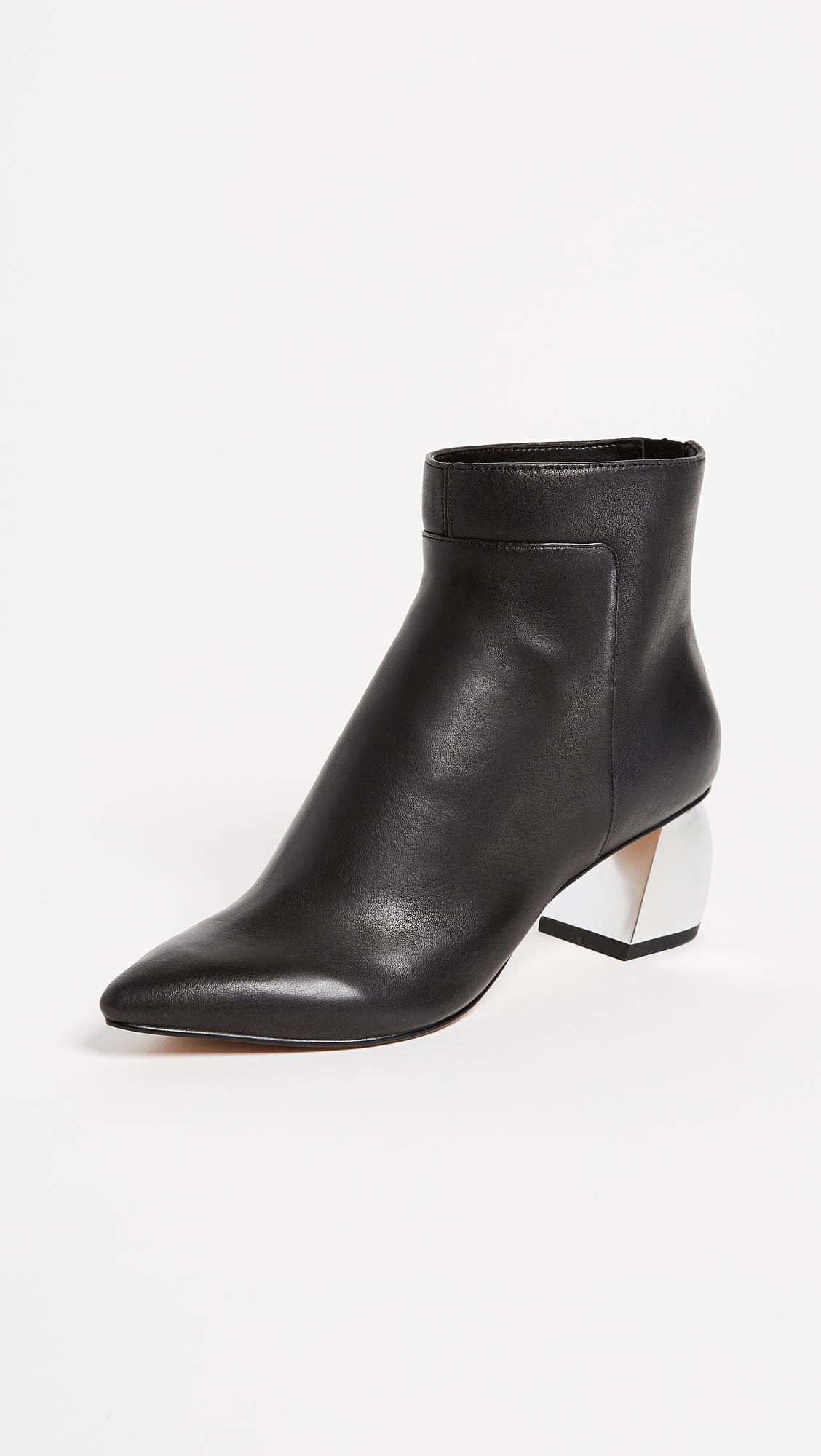 29c2eff04a74b Dolce Vita Black Jonn Block Heel Ankle Boots
