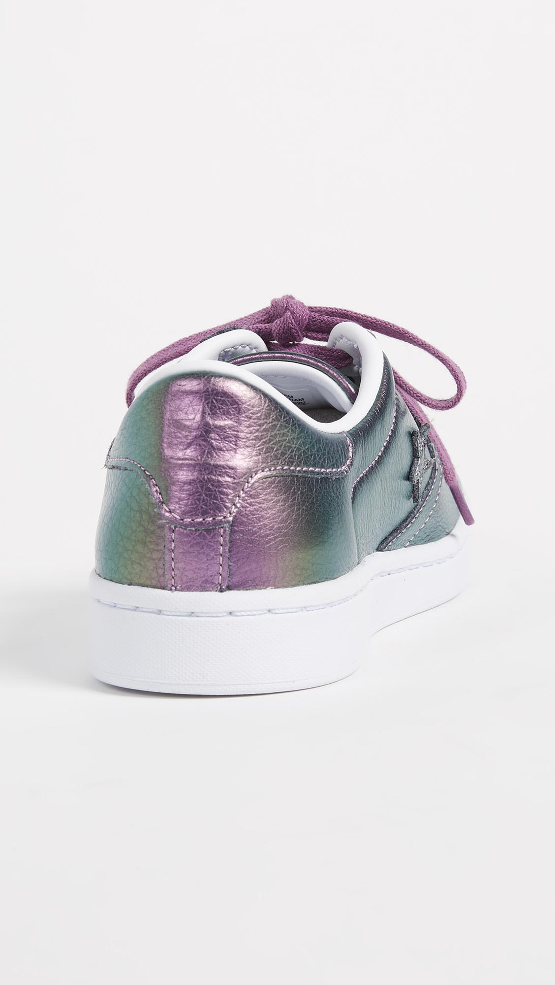 5c2129457aa Lyst - Converse Pro Leather Lp Iridescent Ox Sneakers in White