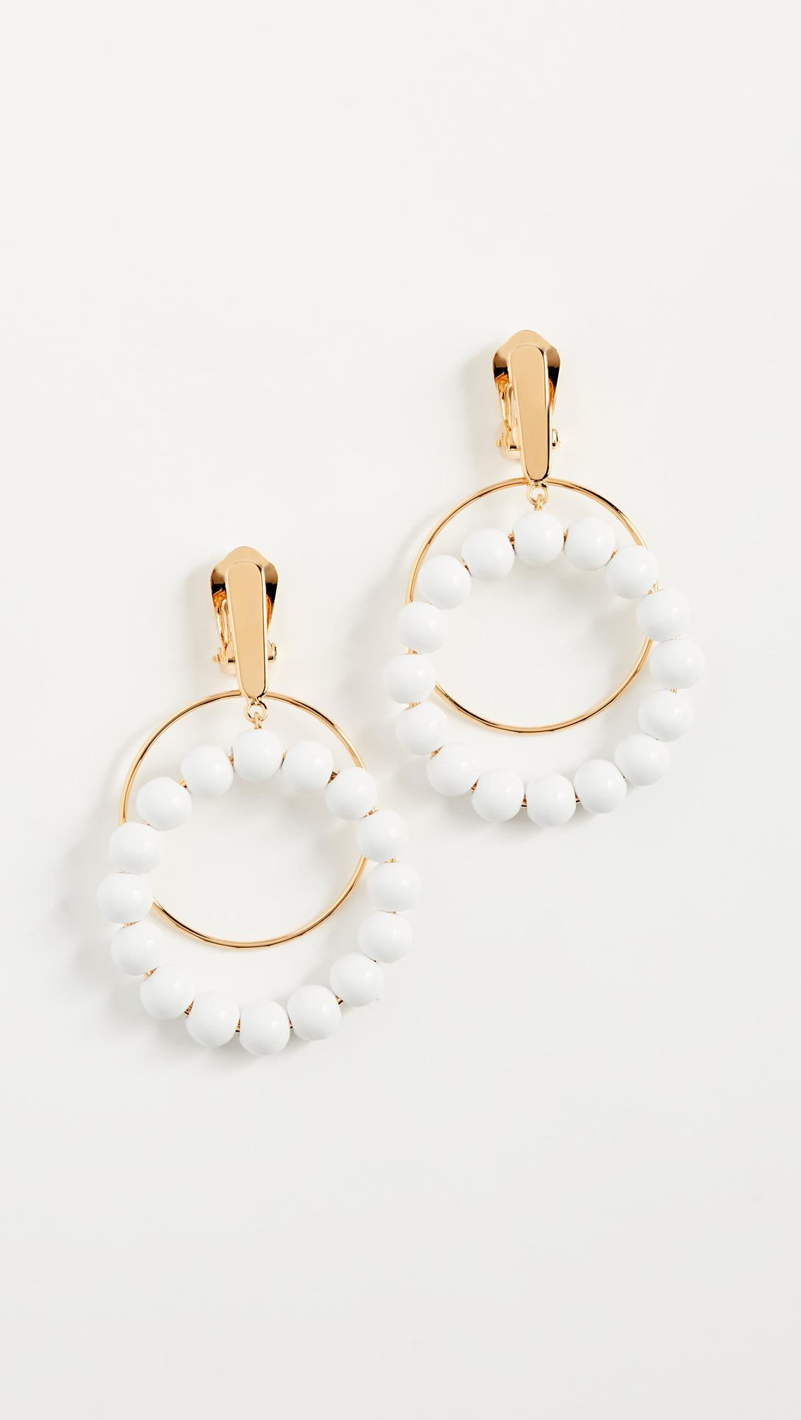 Marni Bead-embellished clip-on earrings BG68xJS
