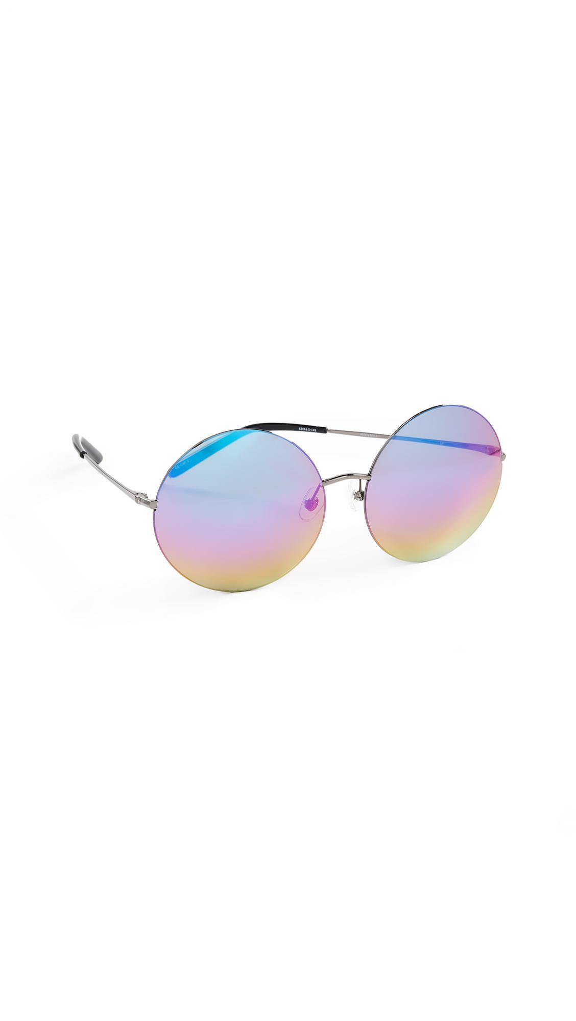b9a52477ea87 ... Matthew Williamson X Linda Farrow Oversized Round Sunglasses - Lyst.  View fullscreen