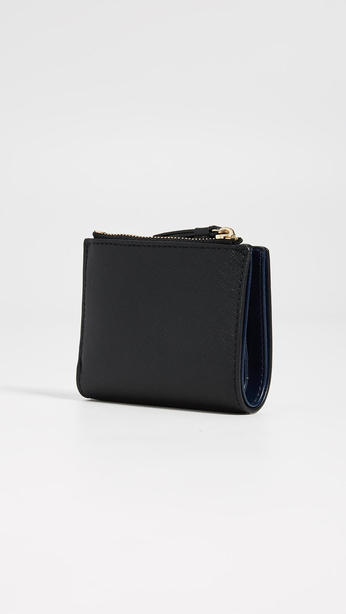 797d27e722a3 Tory Burch - Black Robinson Mini Wallet - Lyst. View fullscreen