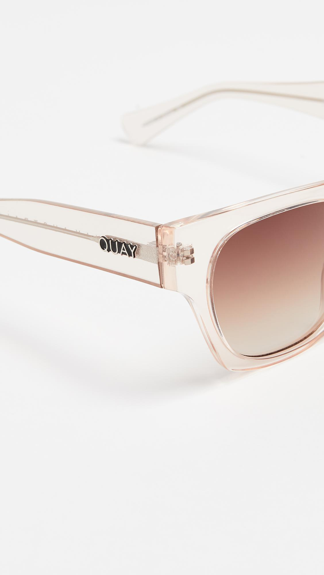 Quay Something Extra Sunglasses in Champagne/Brown (Brown)