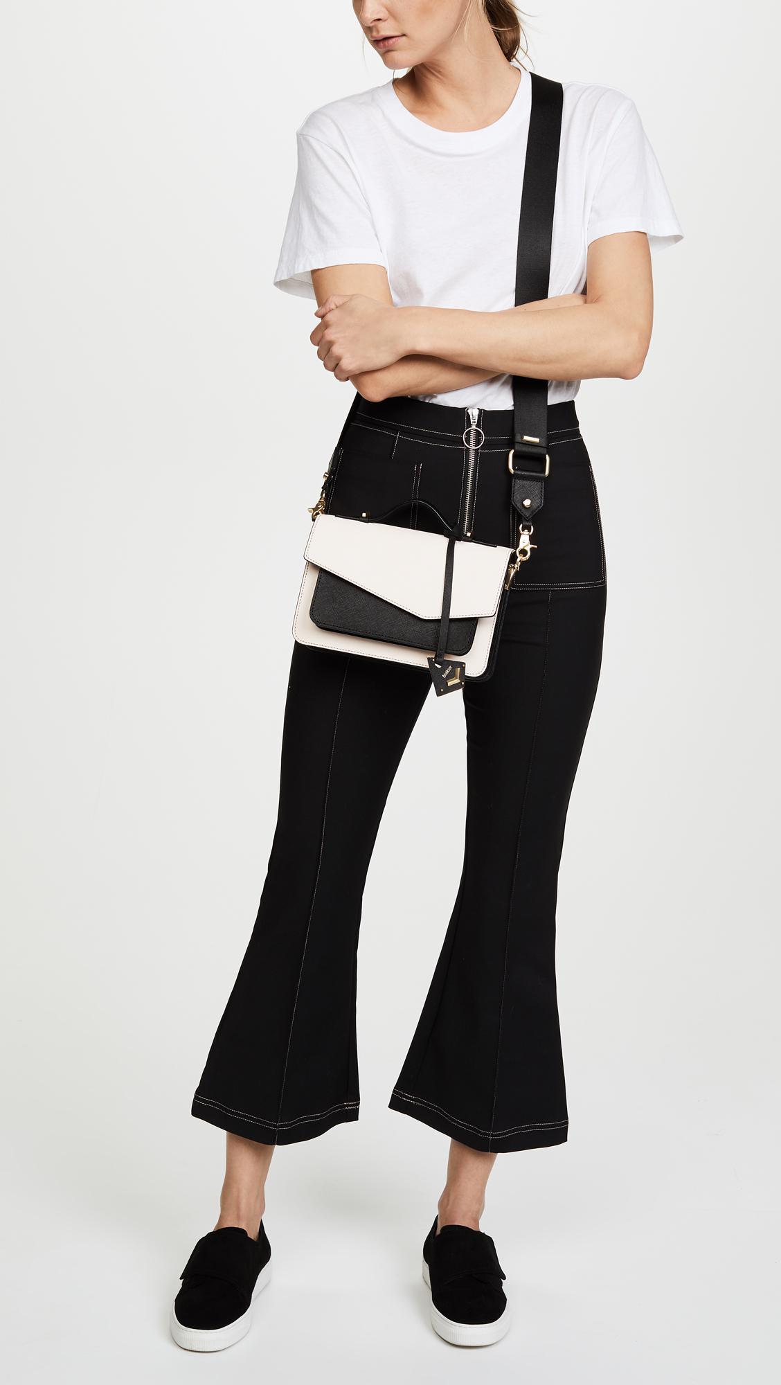 Botkier Leather Cobble Hill Cross Body Bag in Blossom/Black (Black)