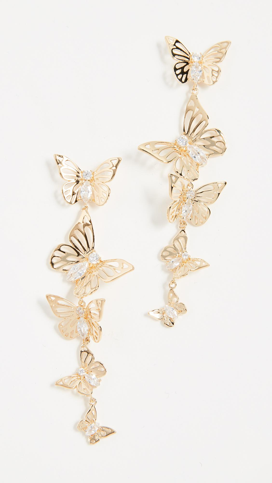 5ac6010210eb1 Kate Spade Metallic Social Butterfly Linear Earrings