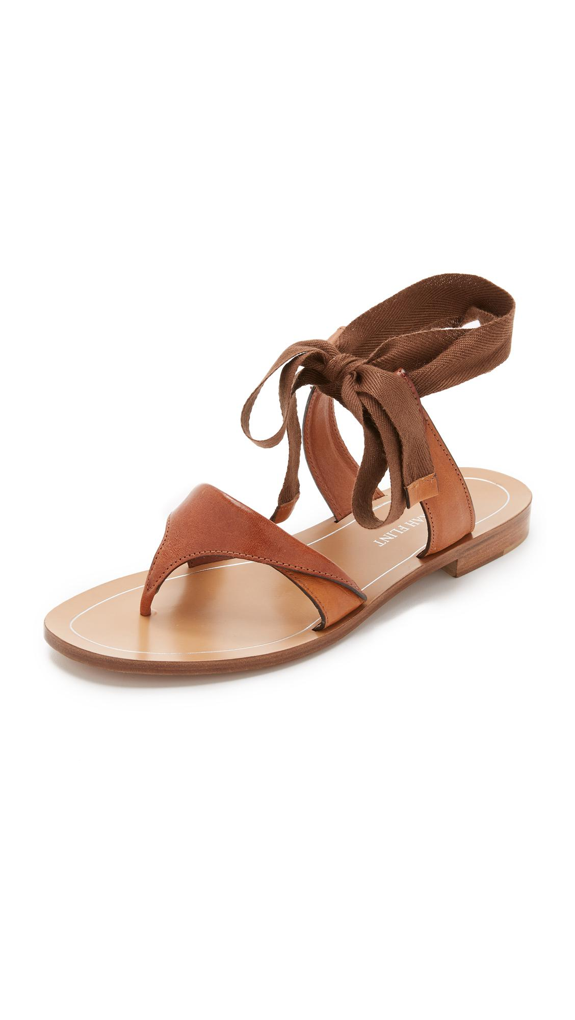 Lyst Sarah Flint Tie Up Sandals In Brown