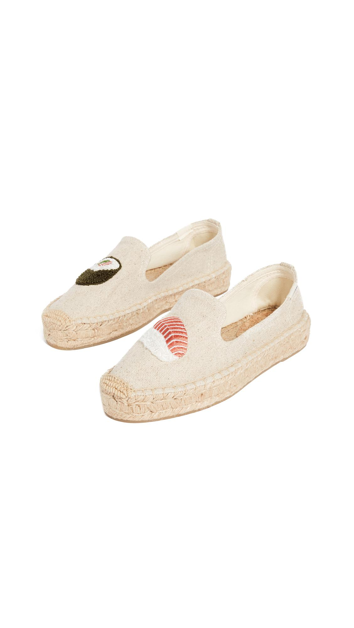 3ba916faa19a Soludos Sushi Platform Smoking Slippers in Natural - Lyst