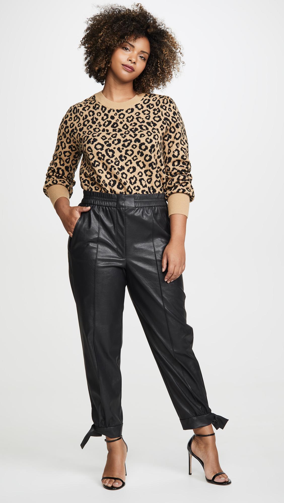 ever popular detailing arrives Rebecca Taylor Vegan Leather Pants in Black - Lyst