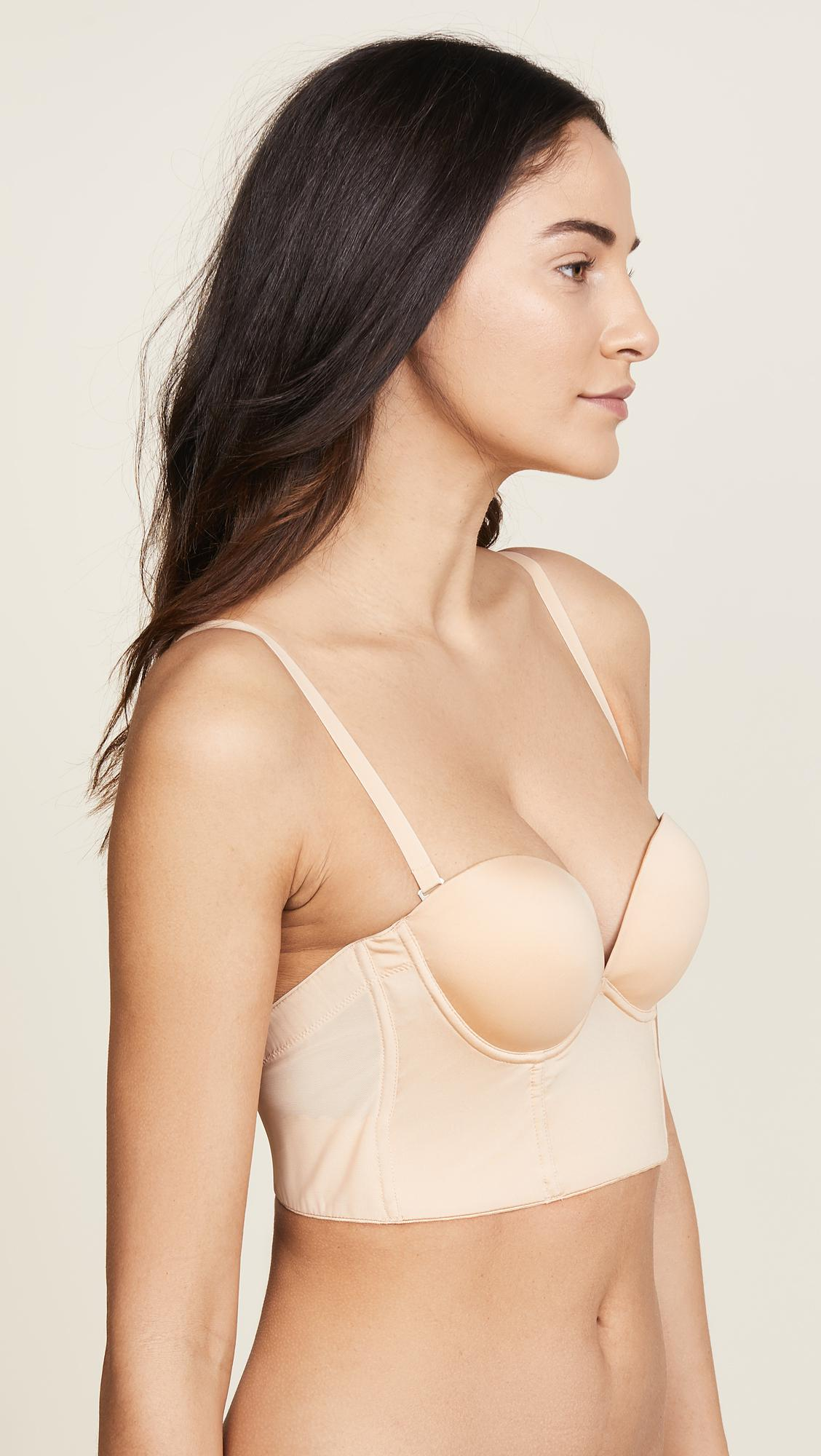 270d5fc1c38d0 Cosabella - Natural Marni Strapless Plunge Back Bra - Lyst. View fullscreen