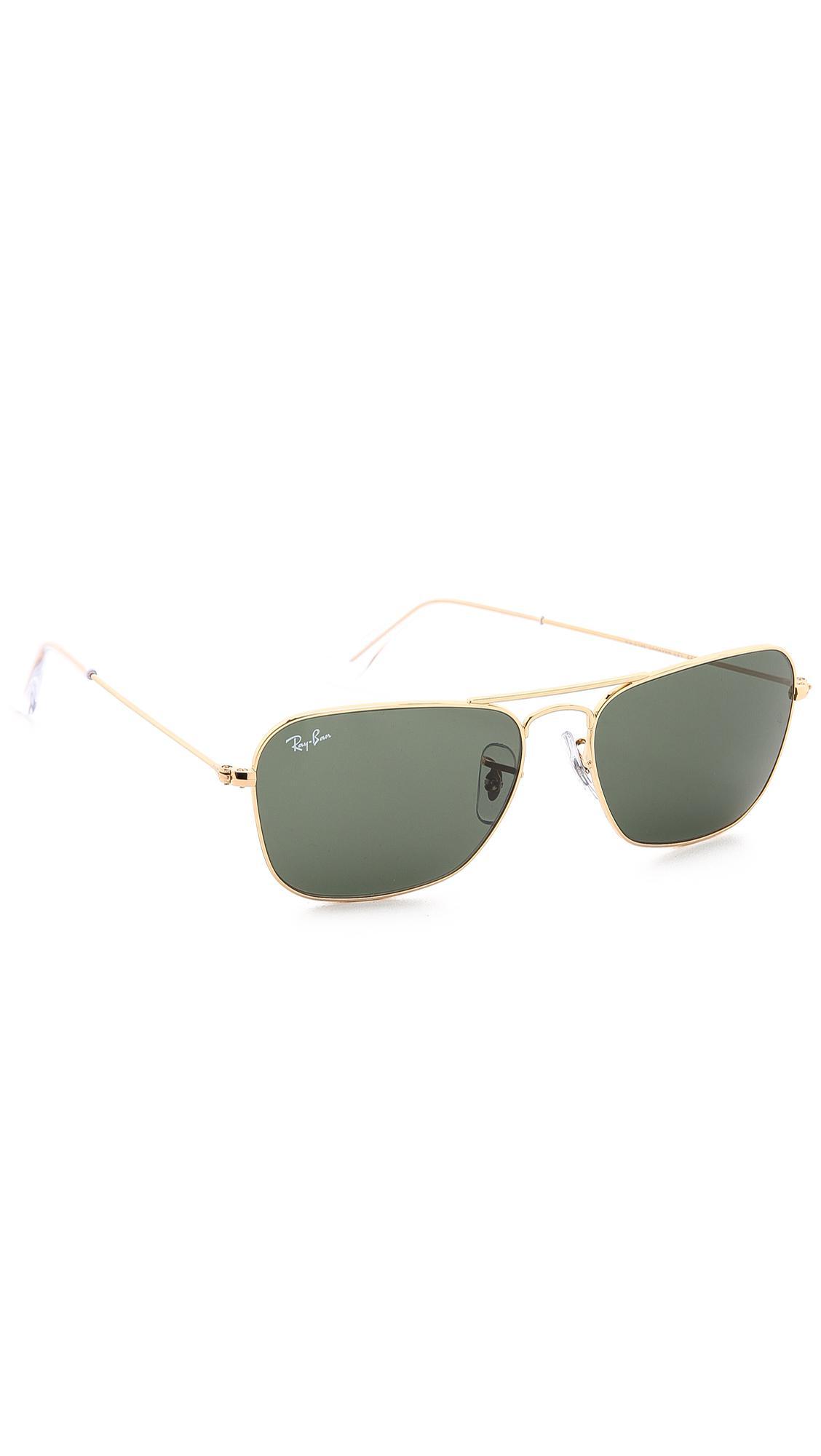 fb256ec4ef Ray-Ban Caravan Sunglasses in Green - Lyst