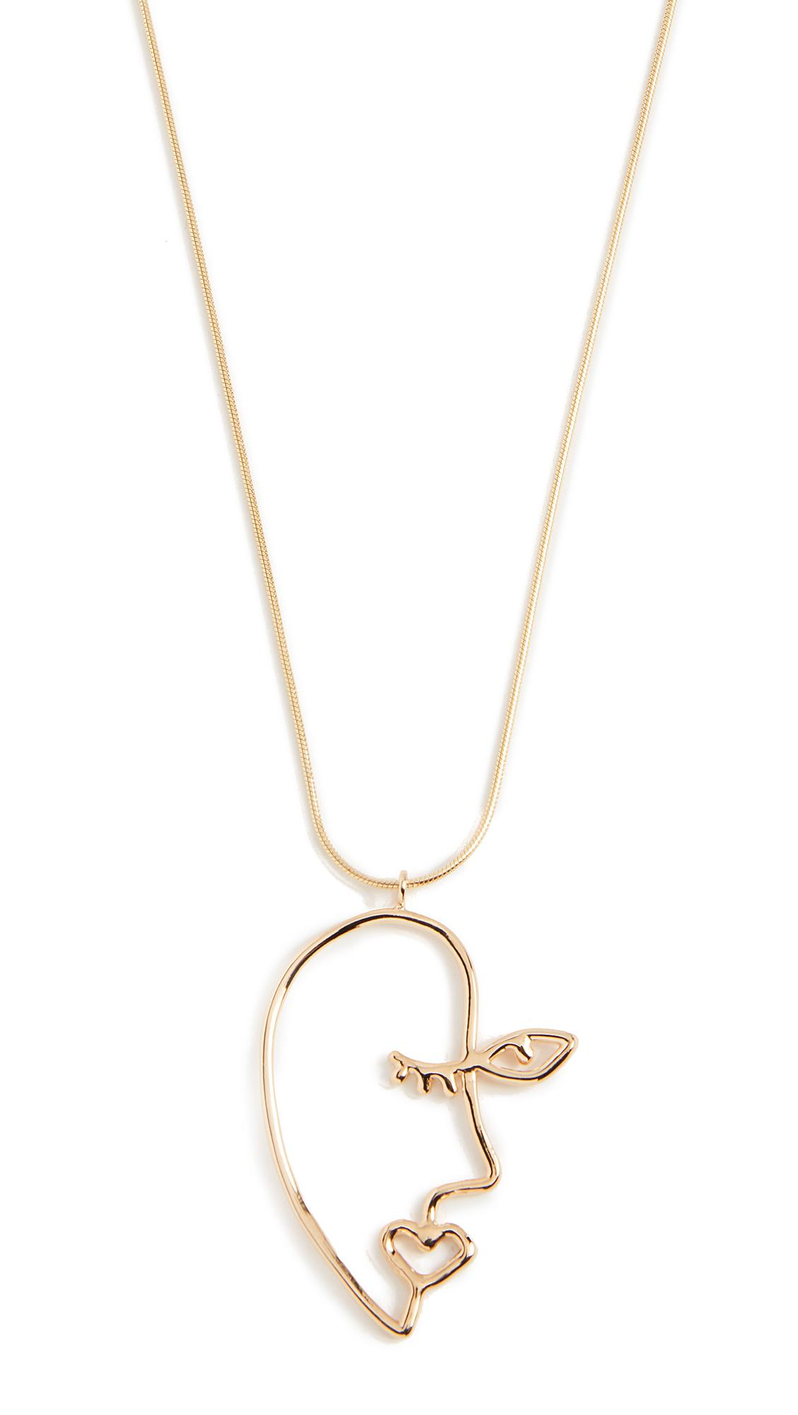 CONTEMPOH Profile Necklace in Gold (Metallic)