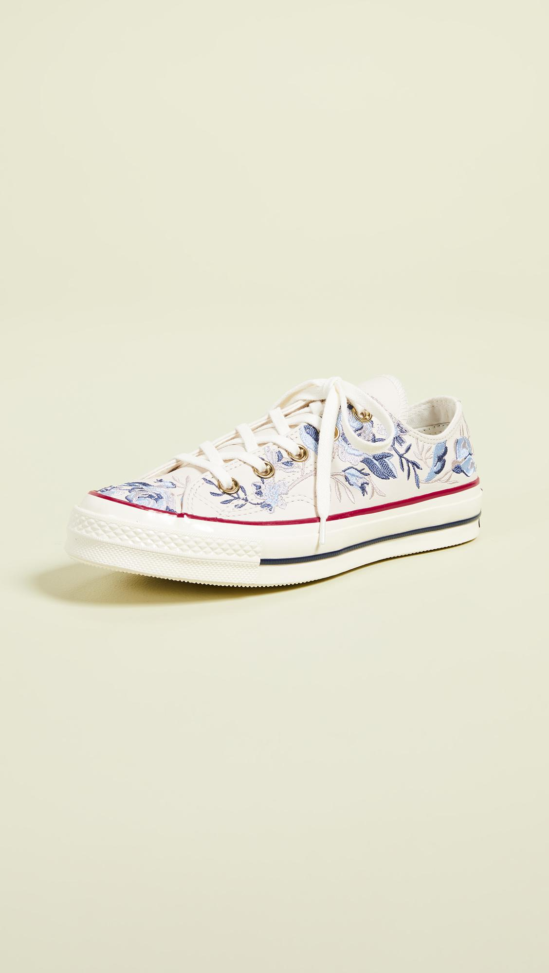 01e9cc9f9a57 Lyst - Converse Chuck 70s Oxford Parkway Floral Sneakers